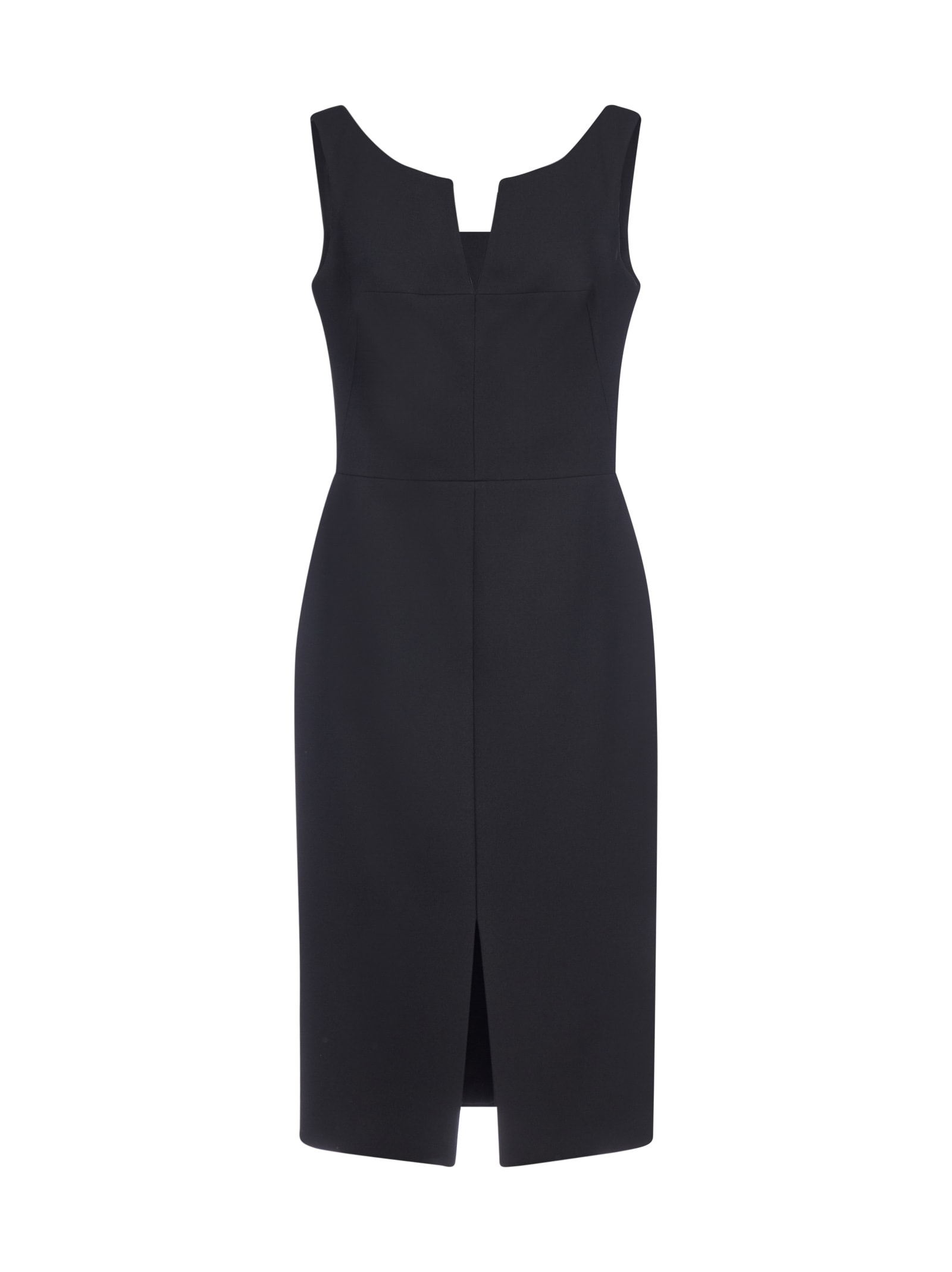 Buy Alexander McQueen Wool And Silk Midi Pencil Dress online, shop Alexander McQueen with free shipping