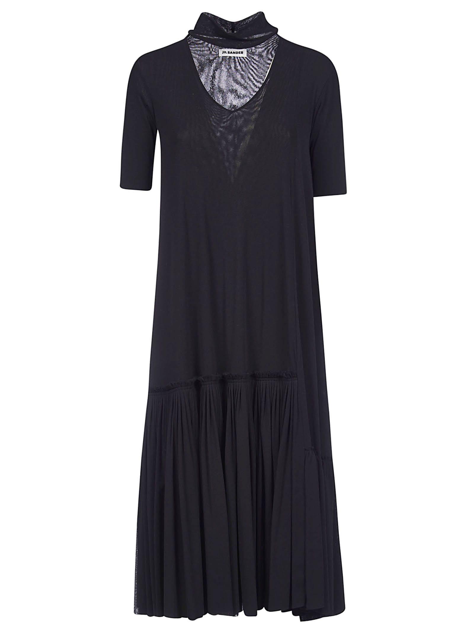 Buy Jil Sander Short-sleeve Turtleneck Dress online, shop Jil Sander with free shipping