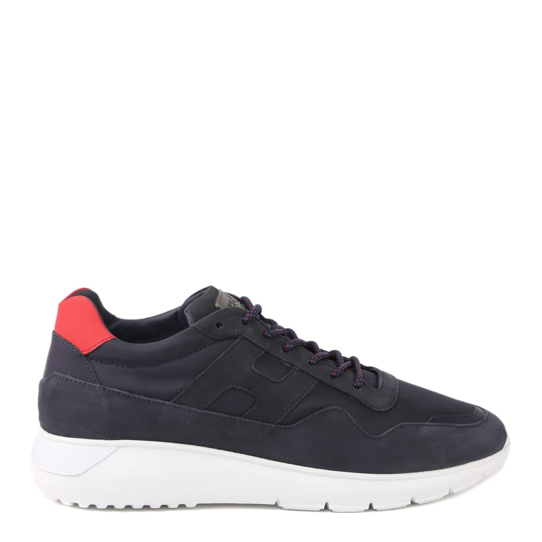 Hogan Interactive Sneakers In Nubuck And Fabric