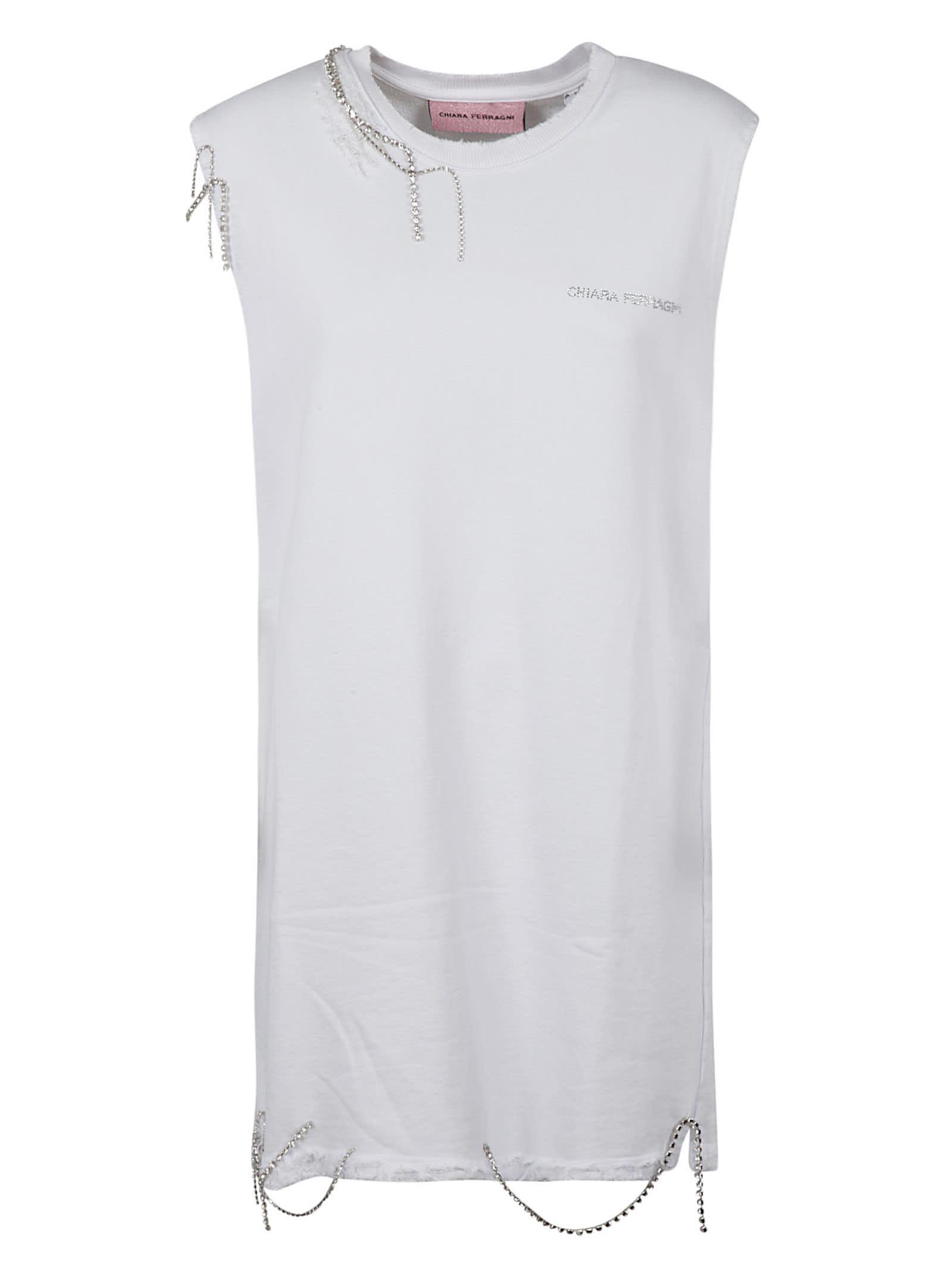 Buy Chiara Ferragni Destroyed Dress online, shop Chiara Ferragni with free shipping