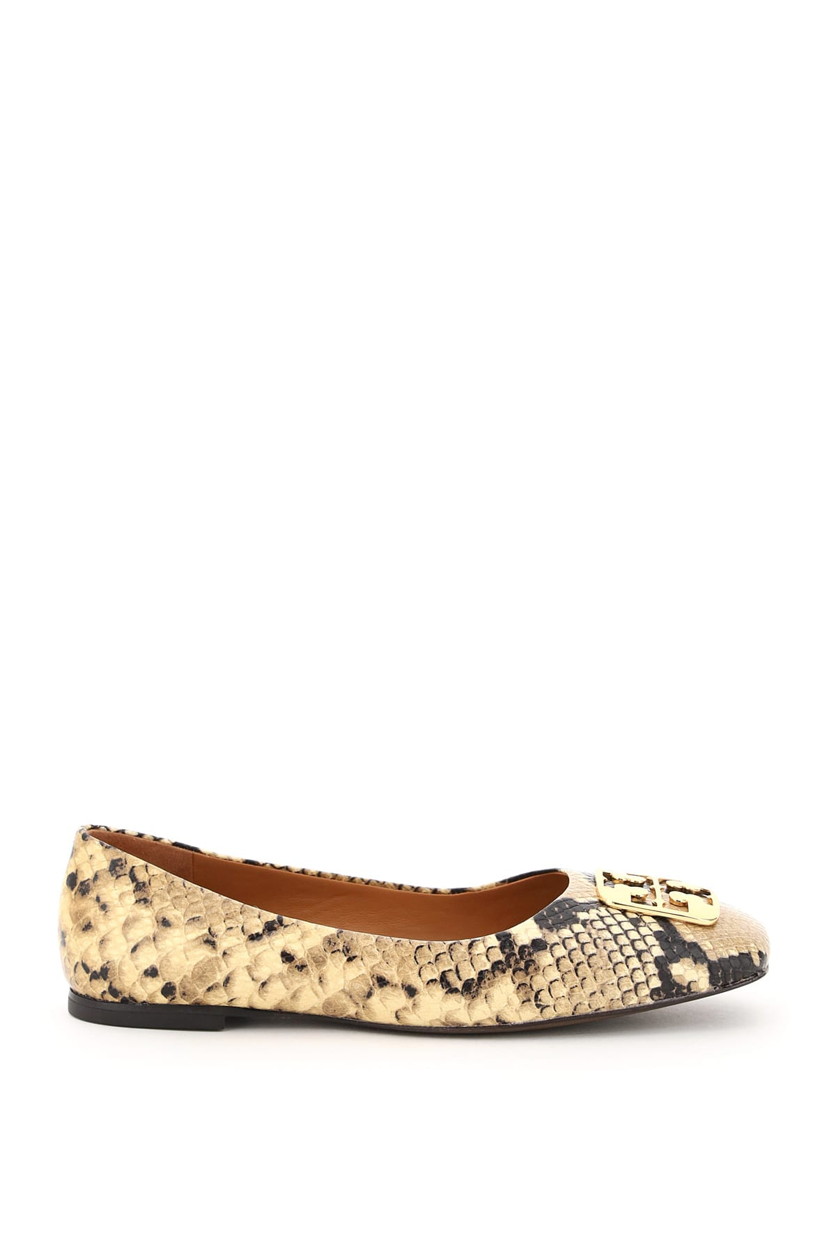 Buy Tory Burch Georgia Snake Print Ballet Flats online, shop Tory Burch shoes with free shipping