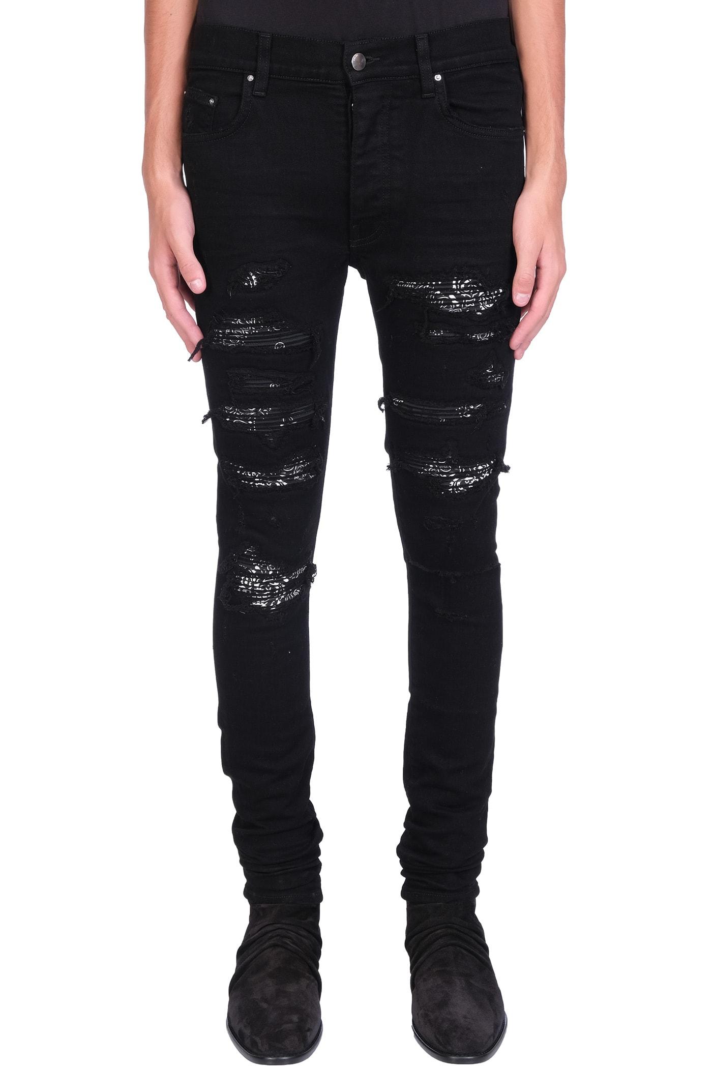 AMIRI Jeans In Black Denim