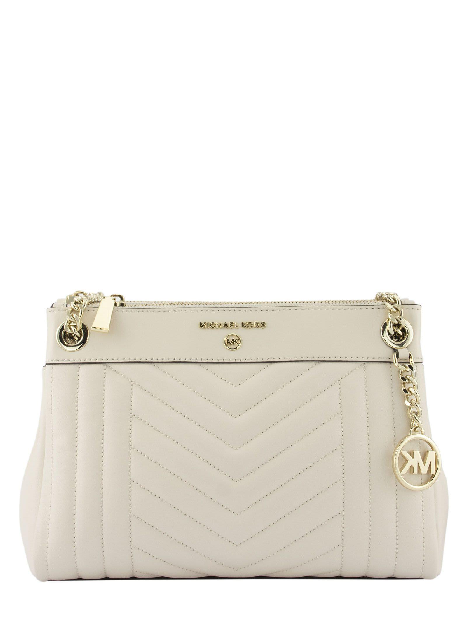 Michael Kors Susan Small Shoulder Bag Cream