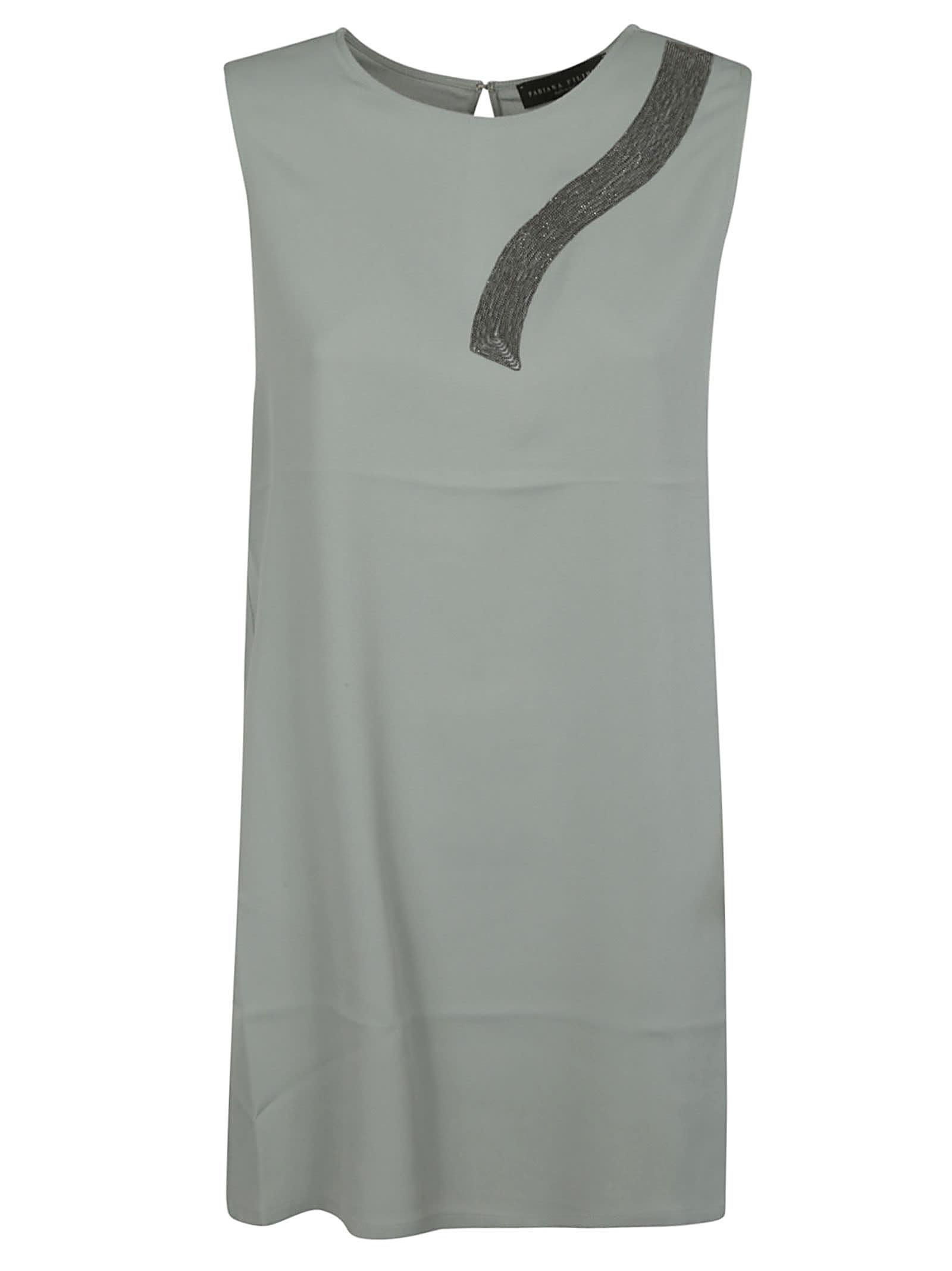 Fabiana Filippi Back Hook Lock Sleeveless Dress
