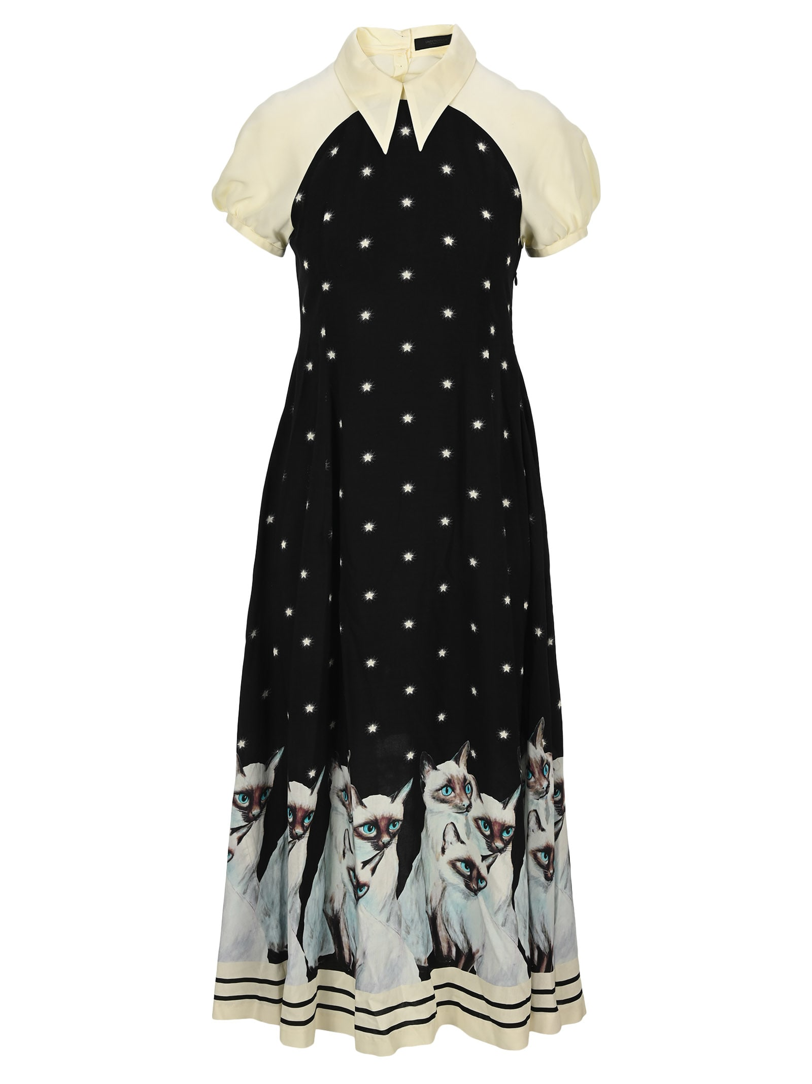 Buy Undercover Painted Cat Dress online, shop Undercover Jun Takahashi with free shipping