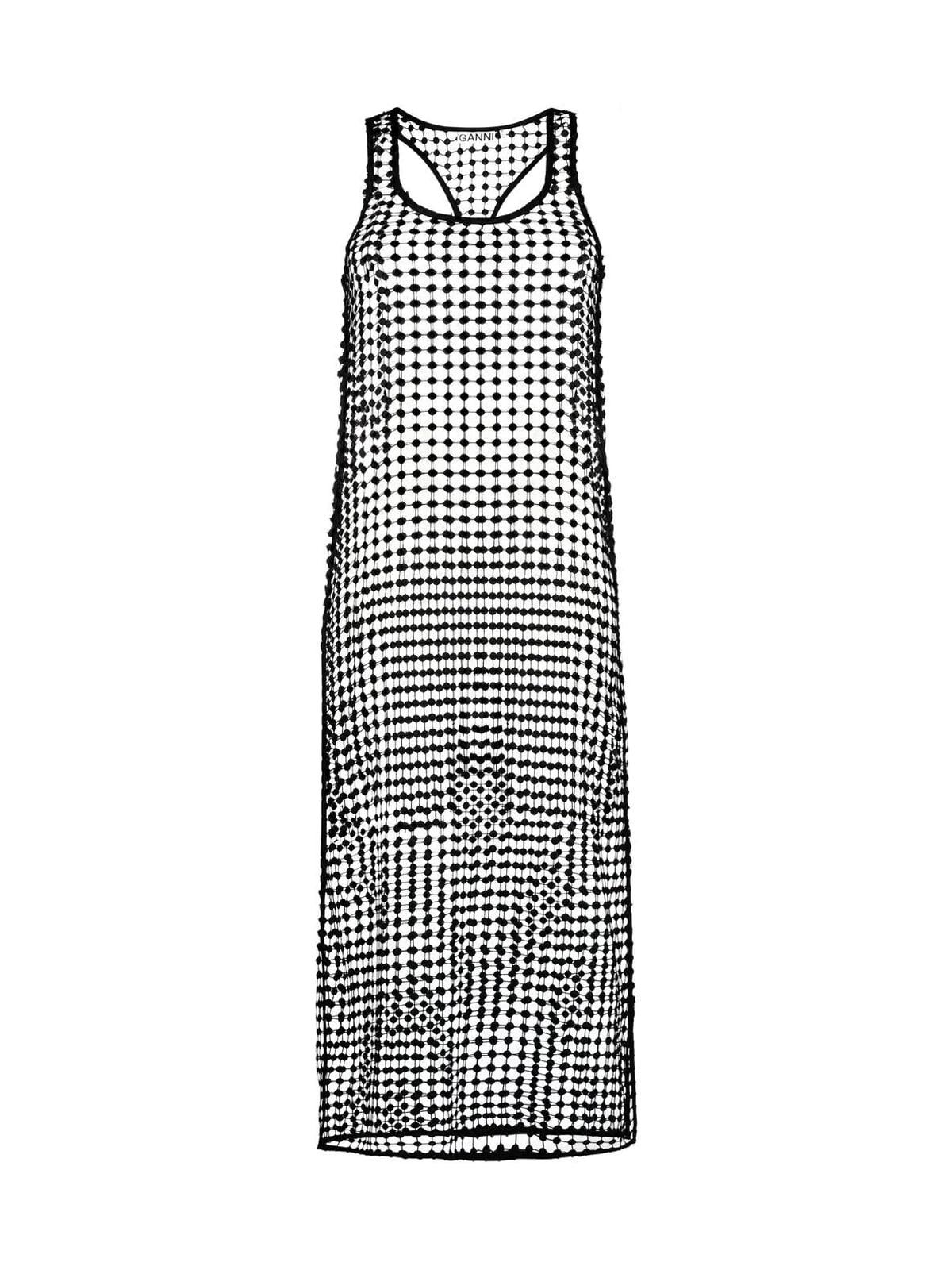 Ganni Grid Lace Dress