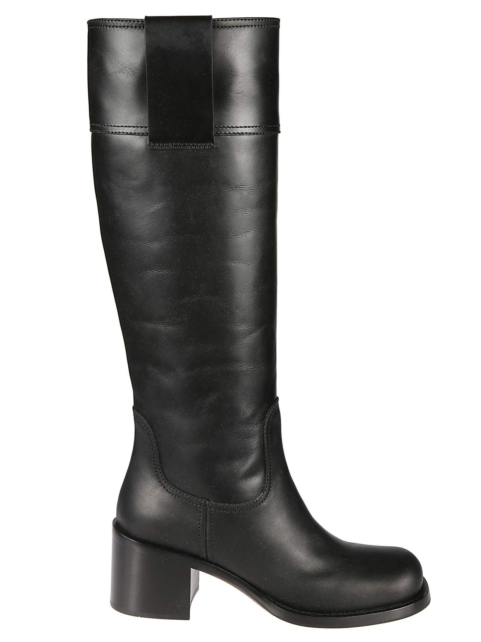 Buy Miu Miu Plain Boots online, shop Miu Miu shoes with free shipping