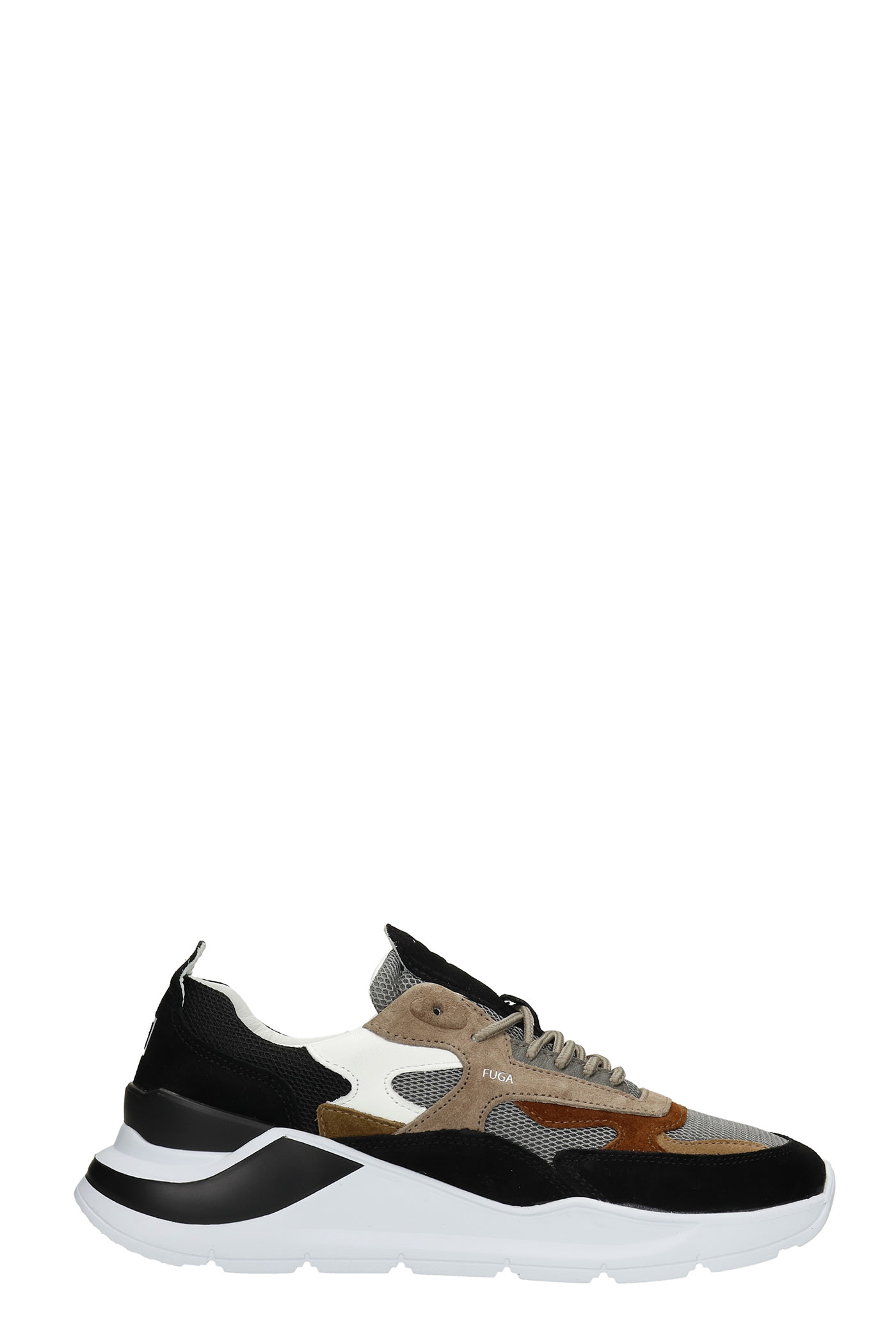 Fuga Sneakers In Black Suede And Fabric