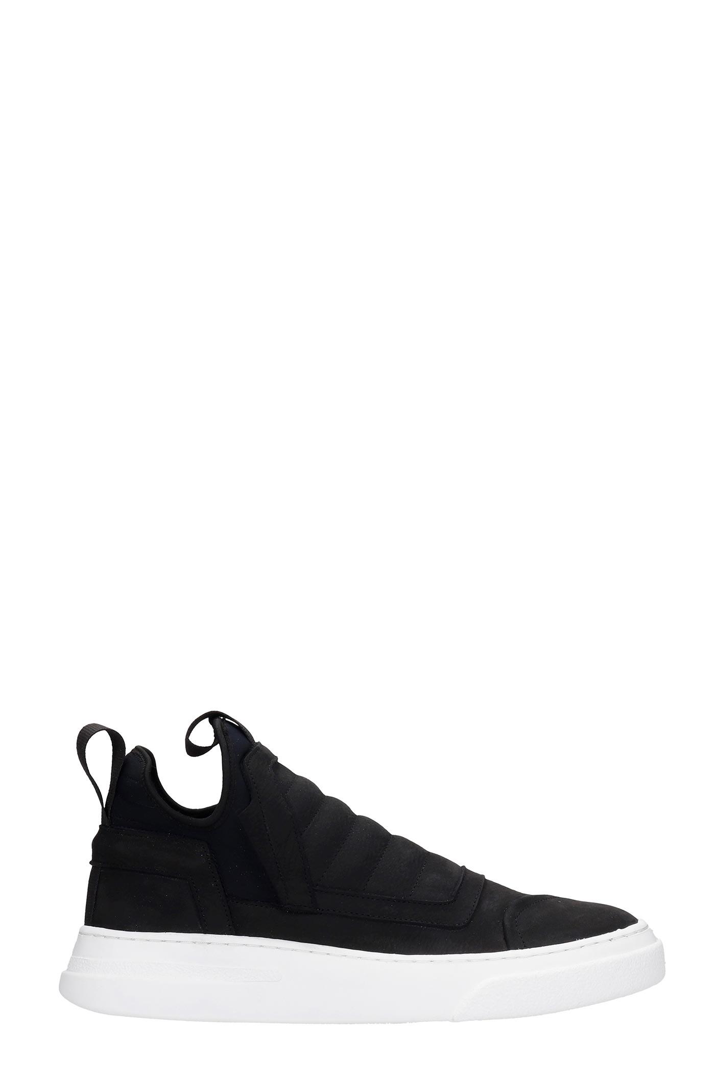 Damper Sneakers In Black Nubuck