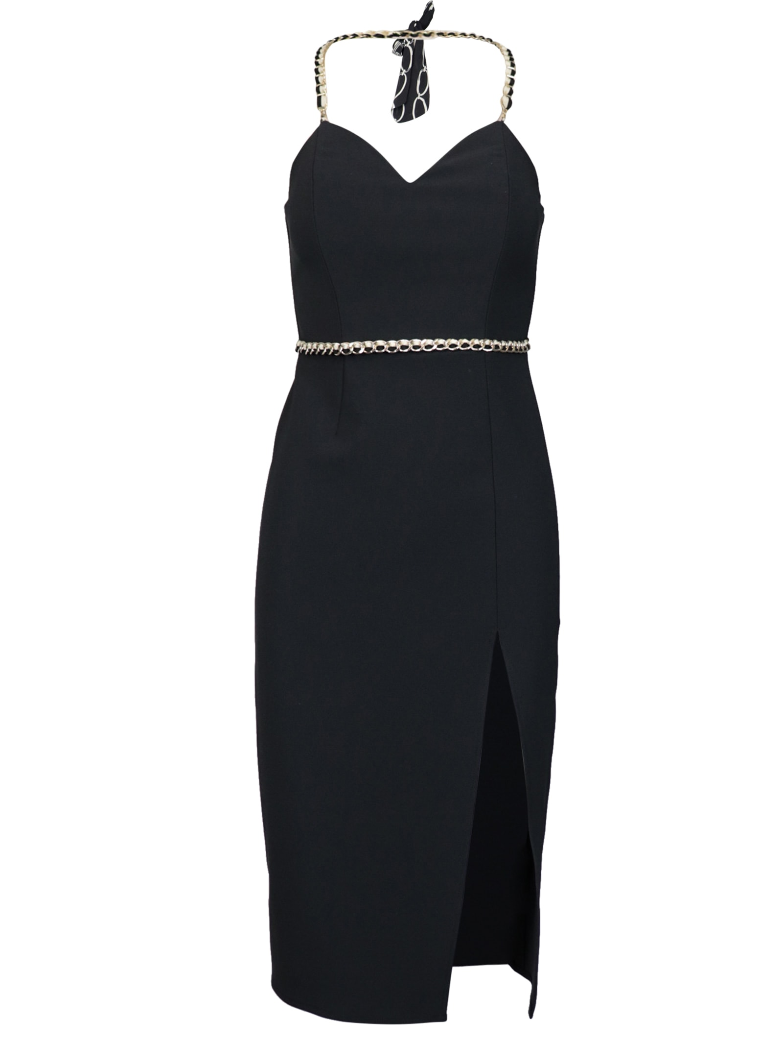 Buy Elisabetta Franchi Celyn B. Mini With Gold Chain Dress online, shop Elisabetta Franchi Celyn B. with free shipping
