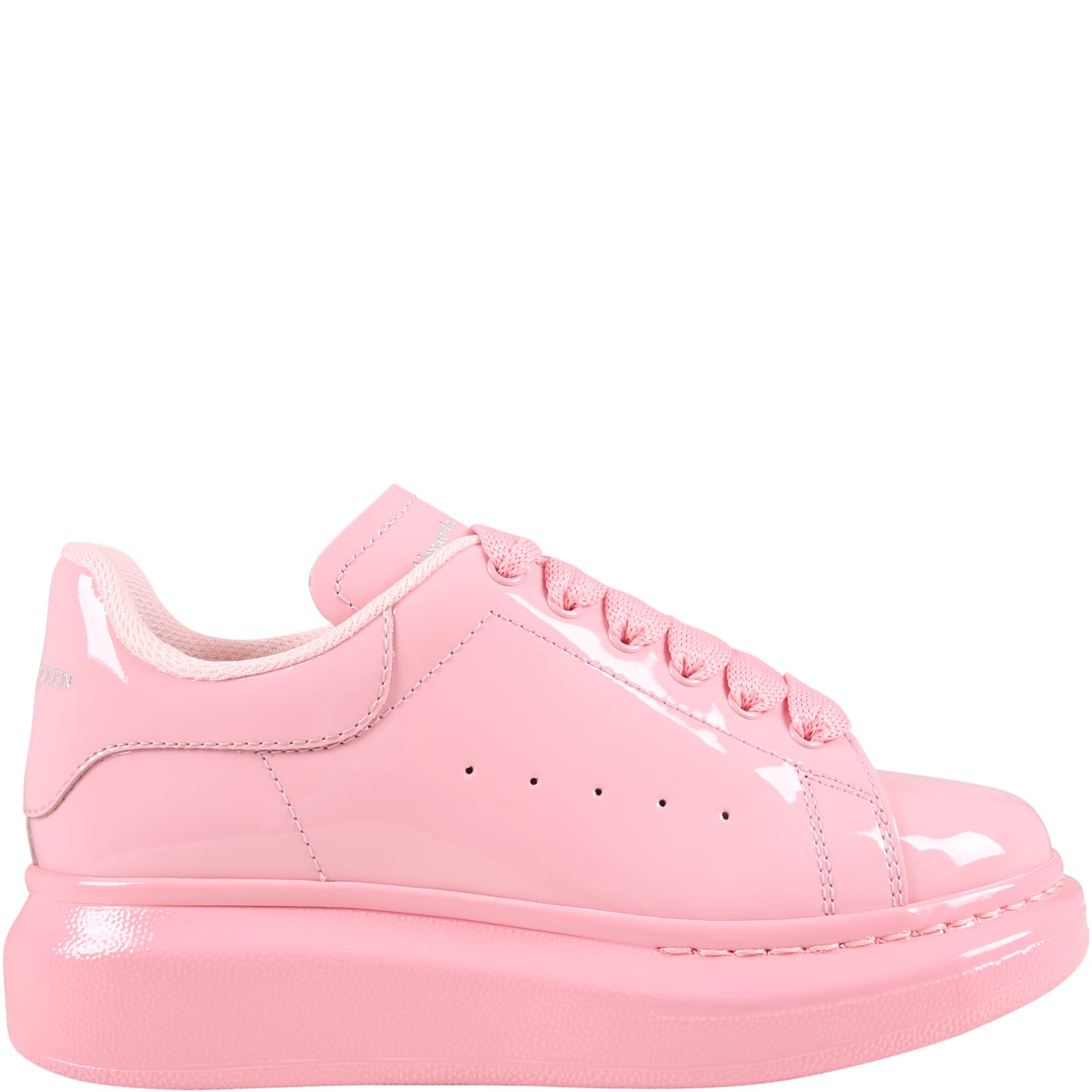 Alexander McQueen Pink Sneakers For Girl With Logo