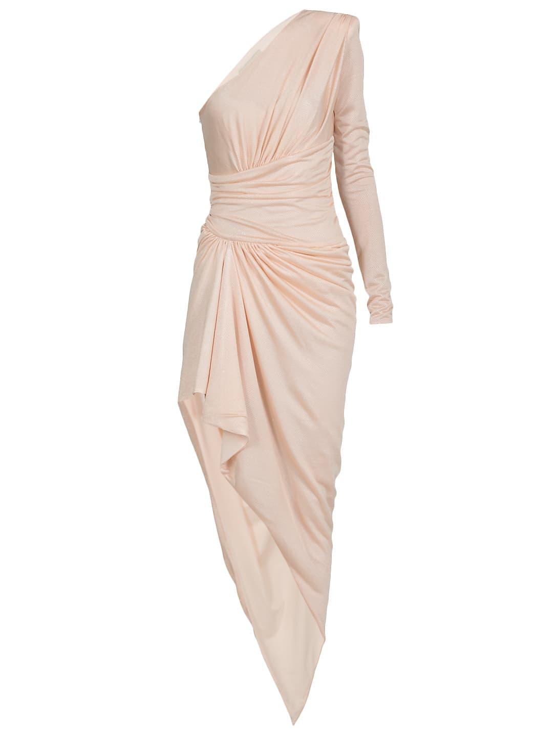 Buy Alexandre Vauthier One Shoulder Draped Dress online, shop Alexandre Vauthier with free shipping