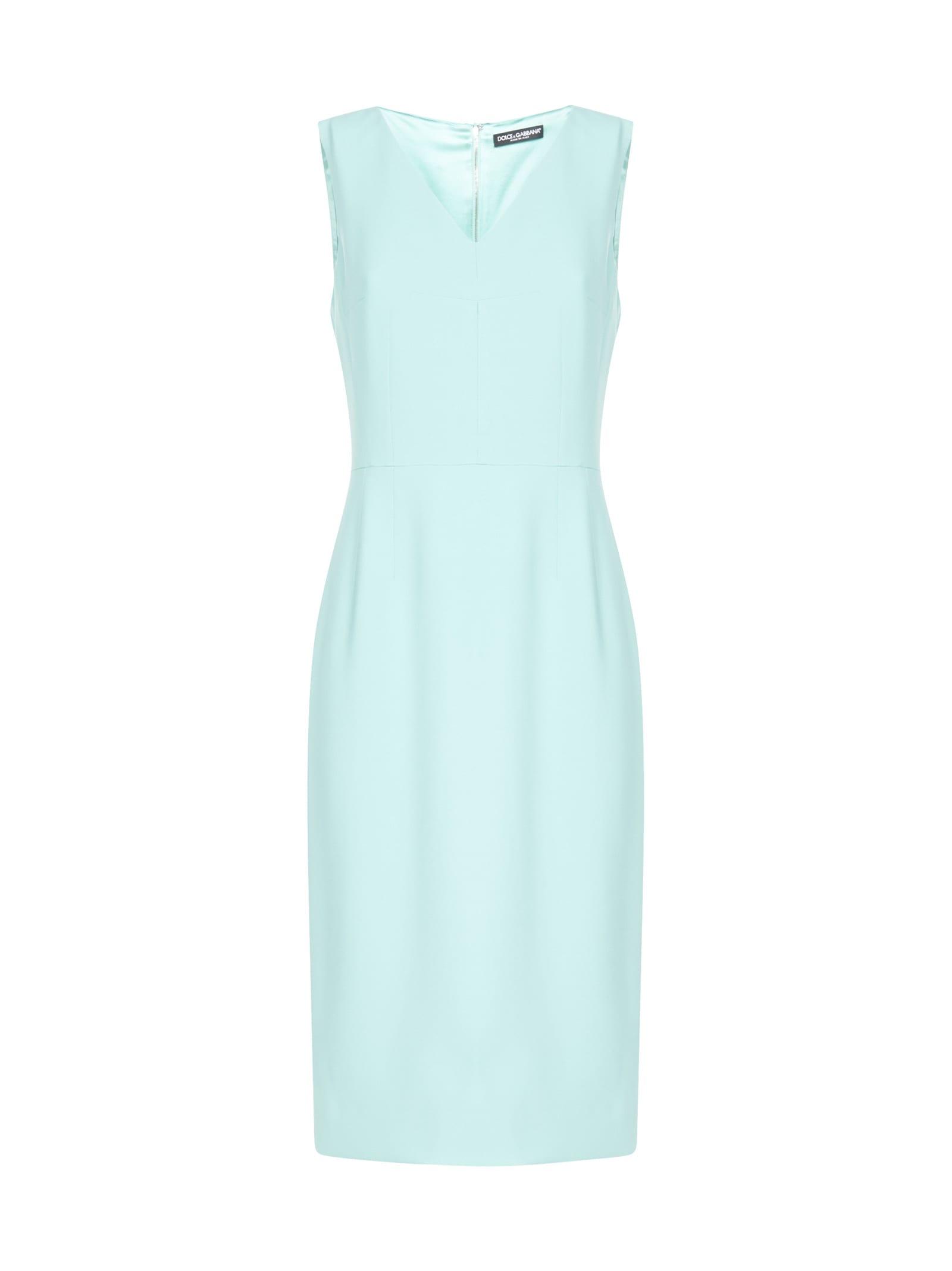 Buy Dolce & Gabbana V Neck Dress online, shop Dolce & Gabbana with free shipping
