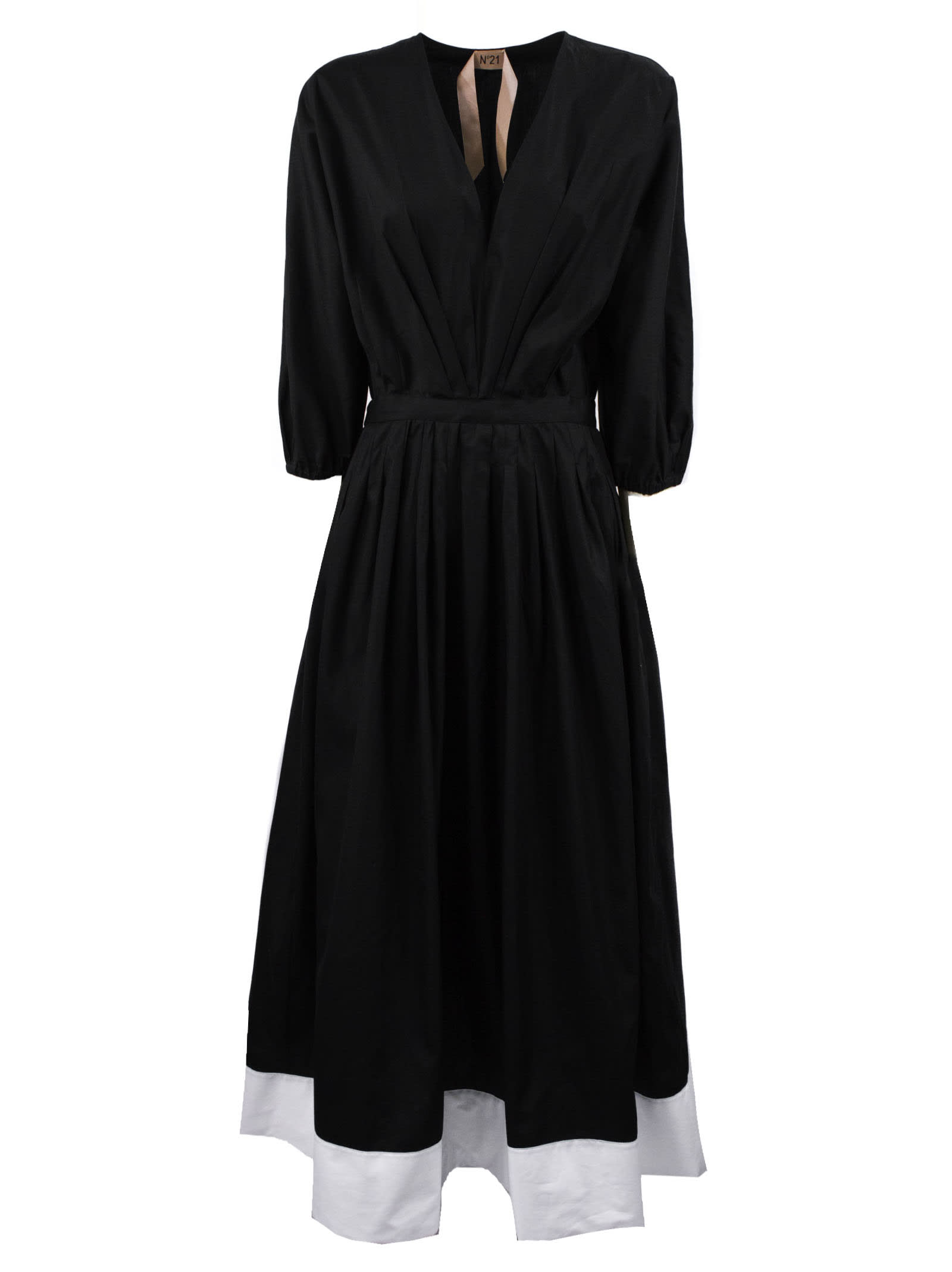 Buy N.21 Black Midi Dress online, shop N.21 with free shipping