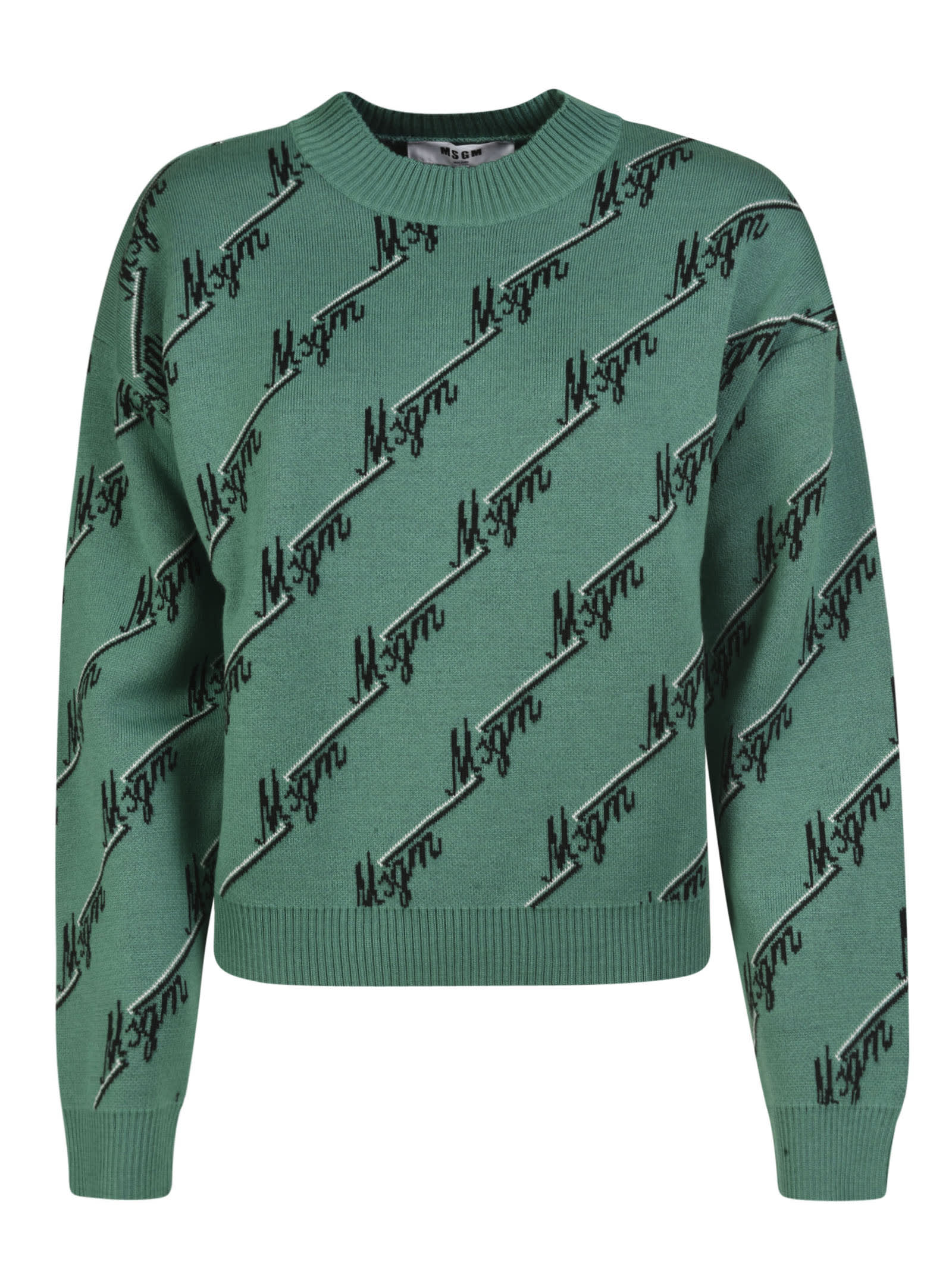 Msgm LOGO MOTIF KNIT SWEATER