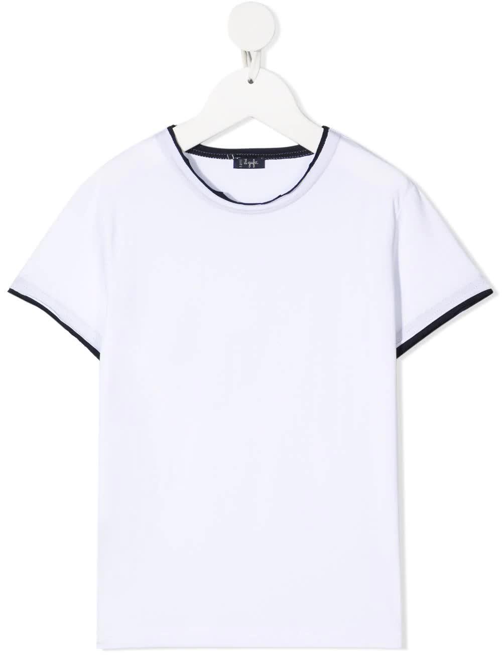 Contrast-trim T-shirt
