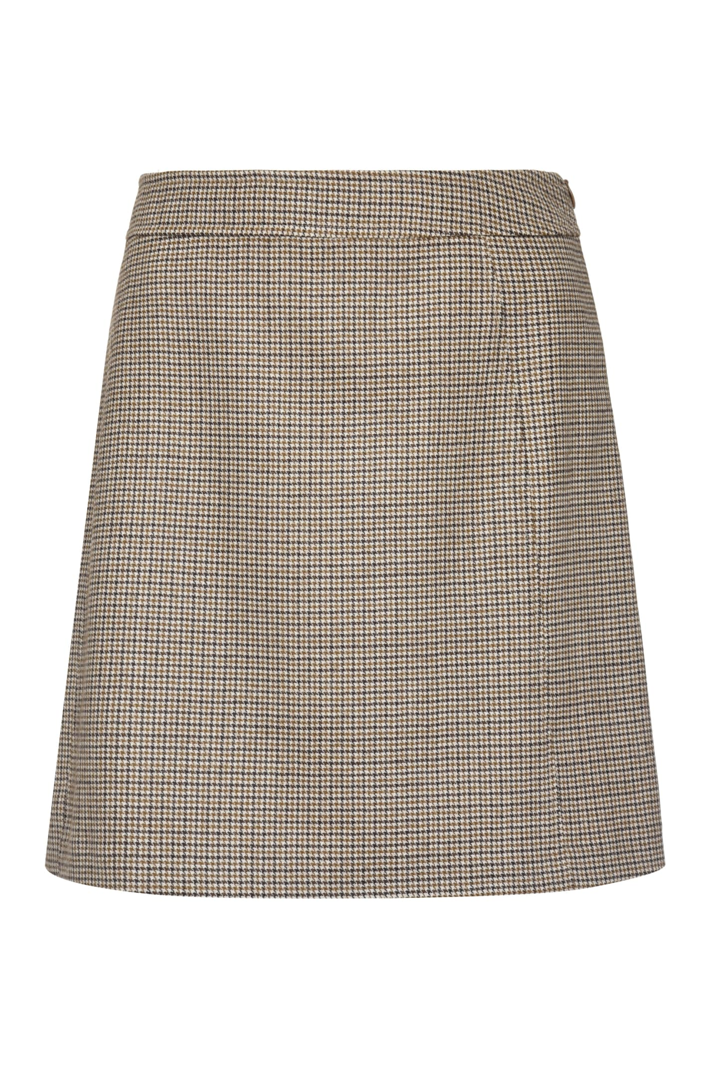 A.p.c. Wools SONIA CHECKED WOOL MINI SKIRT