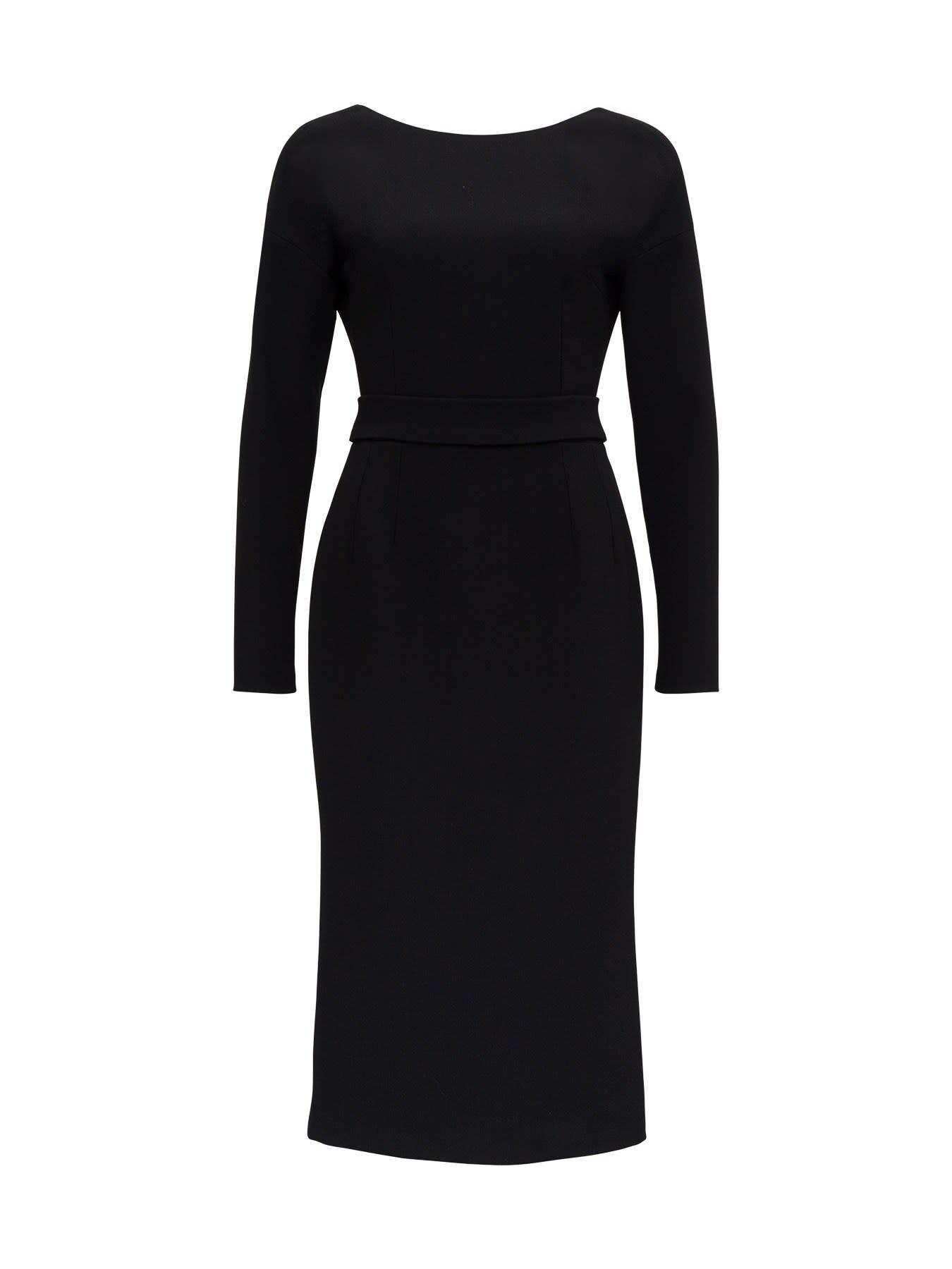 Buy Dolce & Gabbana Crepe Midi Dress online, shop Dolce & Gabbana with free shipping