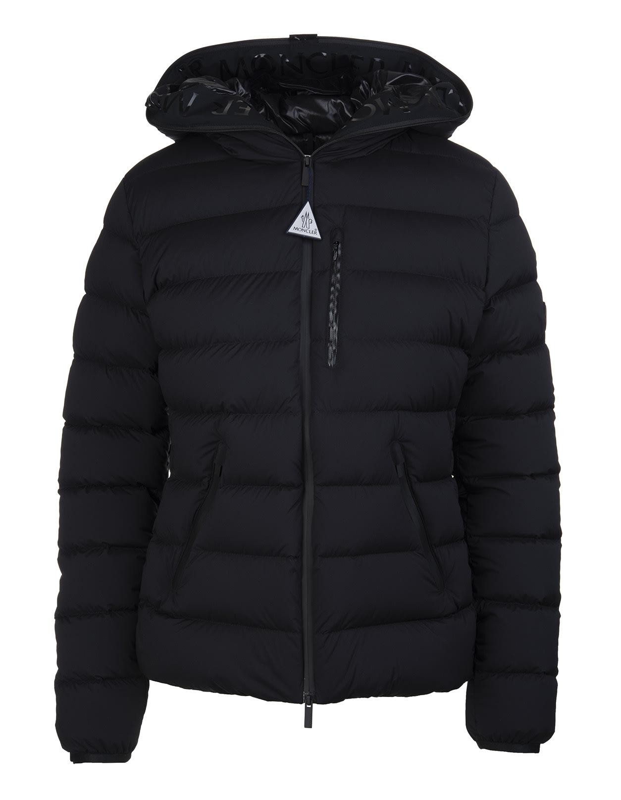 Moncler Woman Black Herbe Down Jacket
