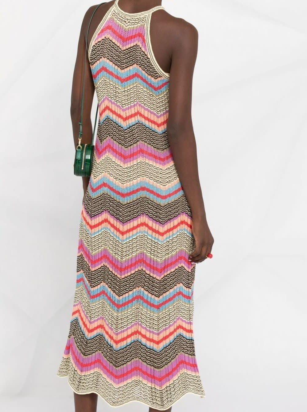 M Missoni Dresses LONG DRESS WITH MULTICOLOR ZIG-ZAG MOTIF
