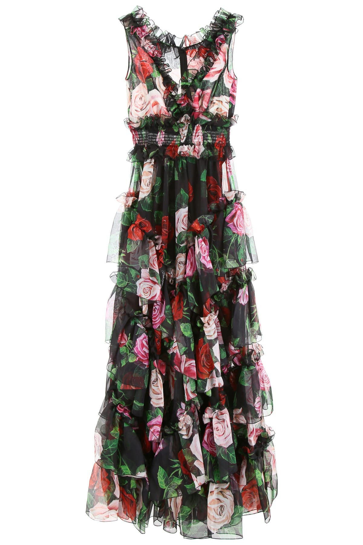 Buy Dolce & Gabbana Rose Print Dress online, shop Dolce & Gabbana with free shipping