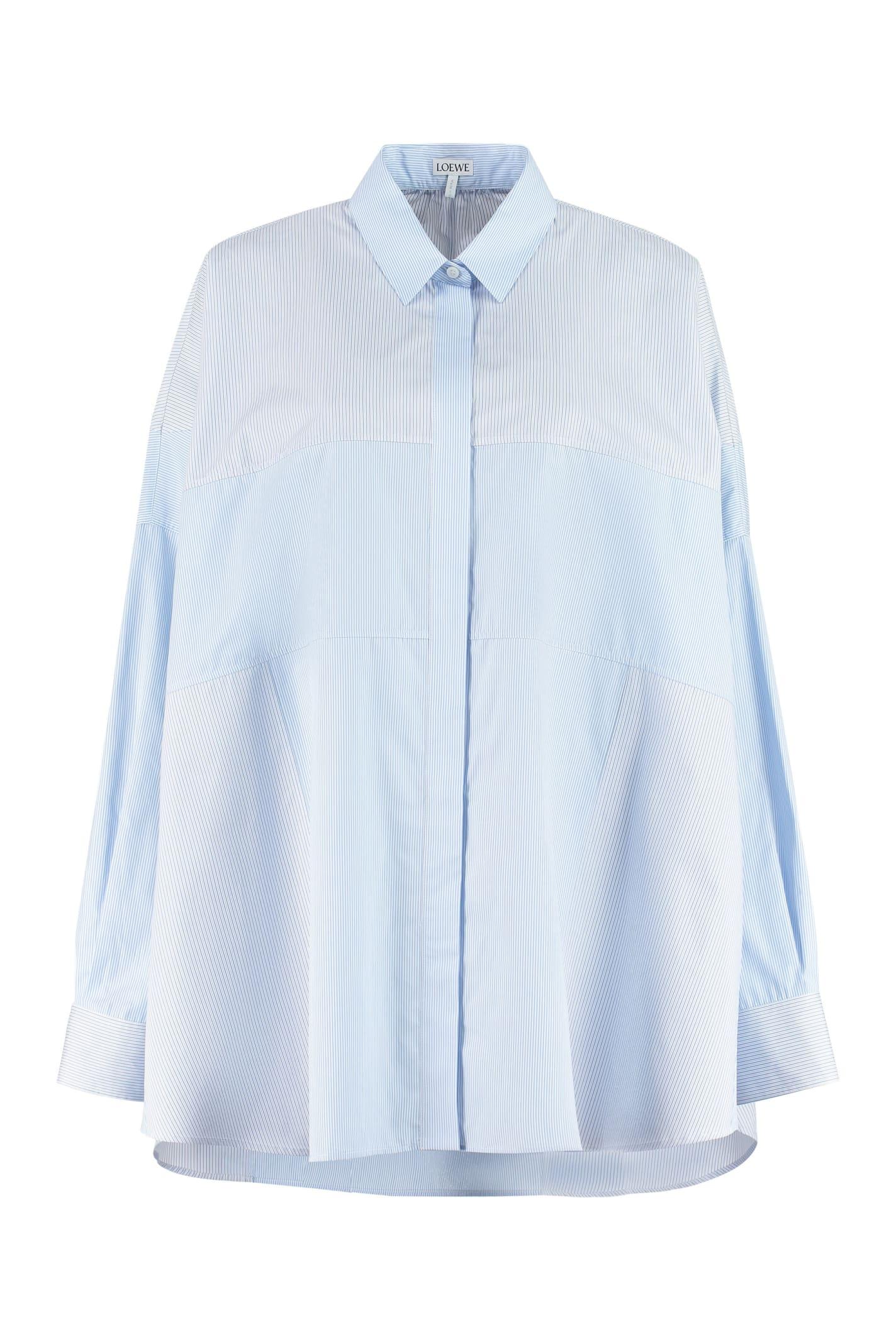 Loewe Striped Stretch Cotton Shirt
