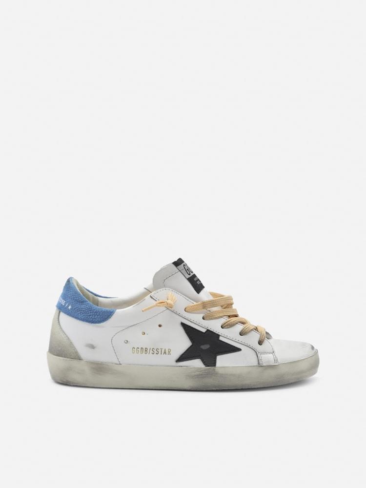 Golden Goose Superstar Sneakers In Leather With Contrasting Heel Tab