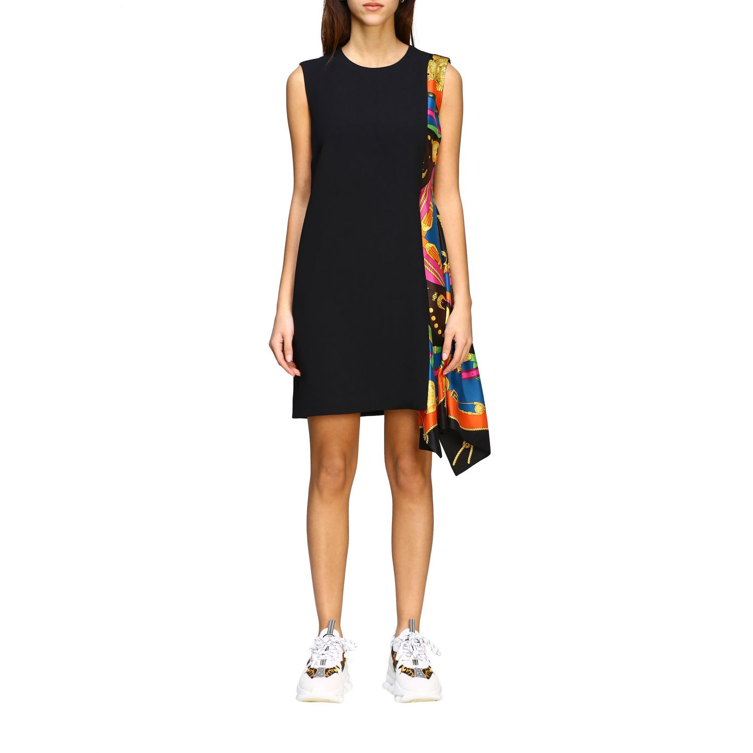 Buy Versace Dress Versace Dress With Silk Insert With Rodeo Print online, shop Versace with free shipping