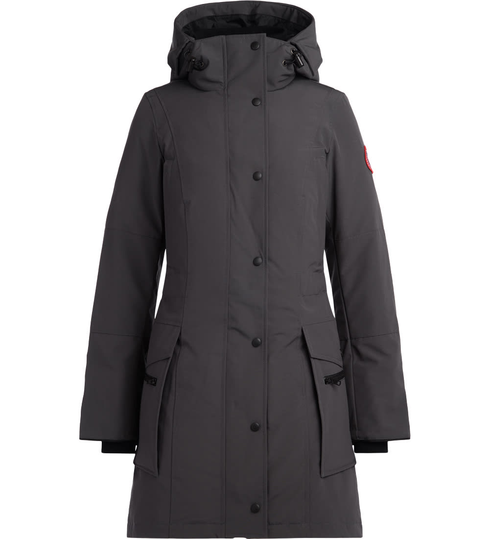 Photo of  Canada Goose Kinley Grey Graphite Parka With Hood- shop Canada Goose jackets online sales
