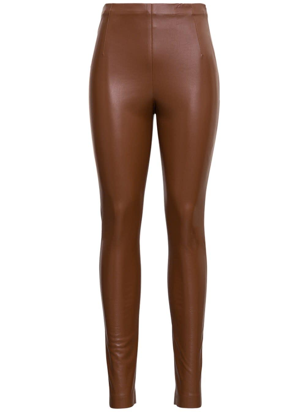 Brown Leatheret Leggings