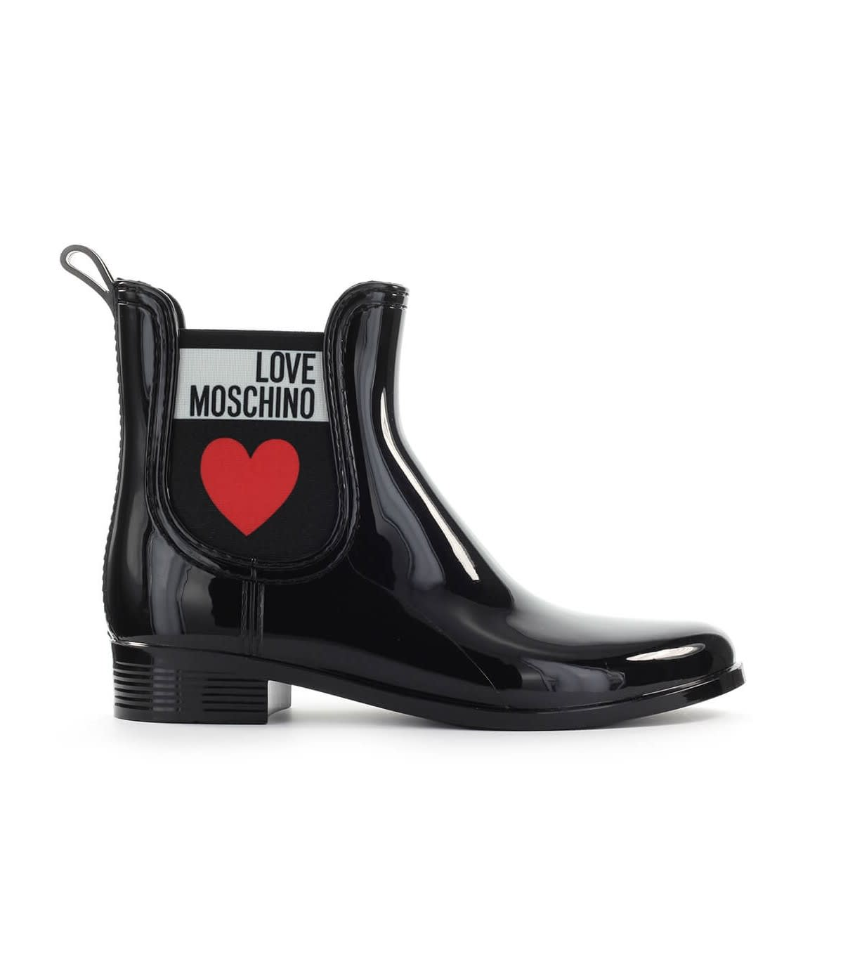 Women/'s Ankle Boots LOVE MOSCHINO JA15584 Vit Neopr Synthetic Leather Black