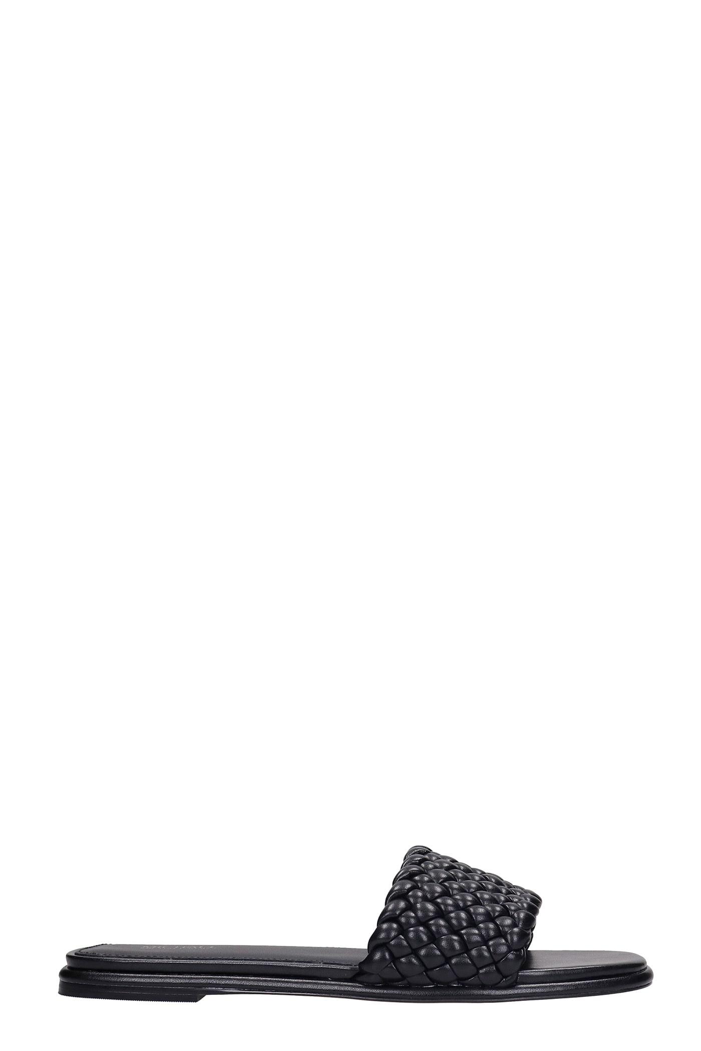 Michael Kors Amelia Flats In Black Leather