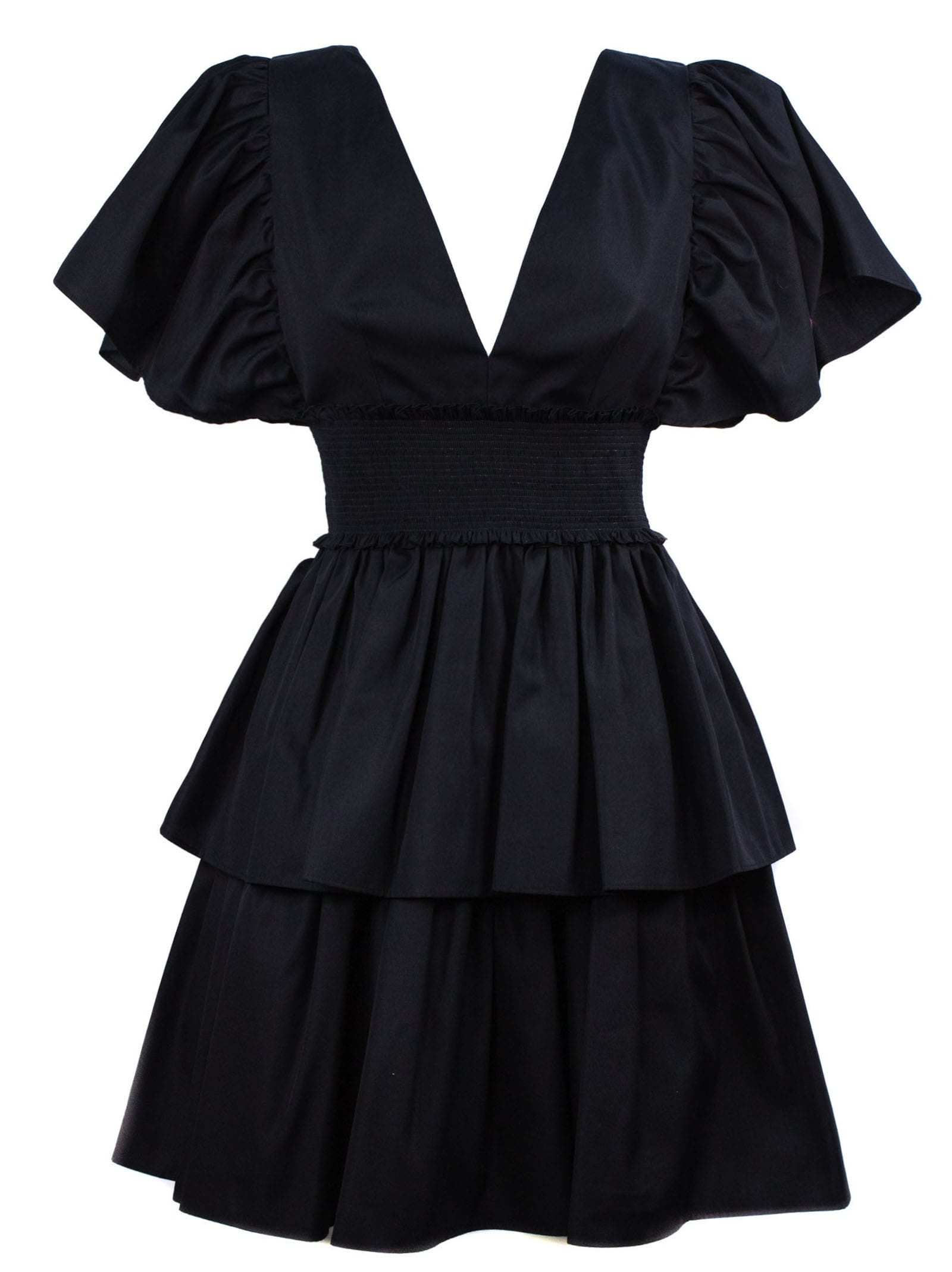 Buy Fausto Puglisi Black Cotton Dress online, shop Fausto Puglisi with free shipping