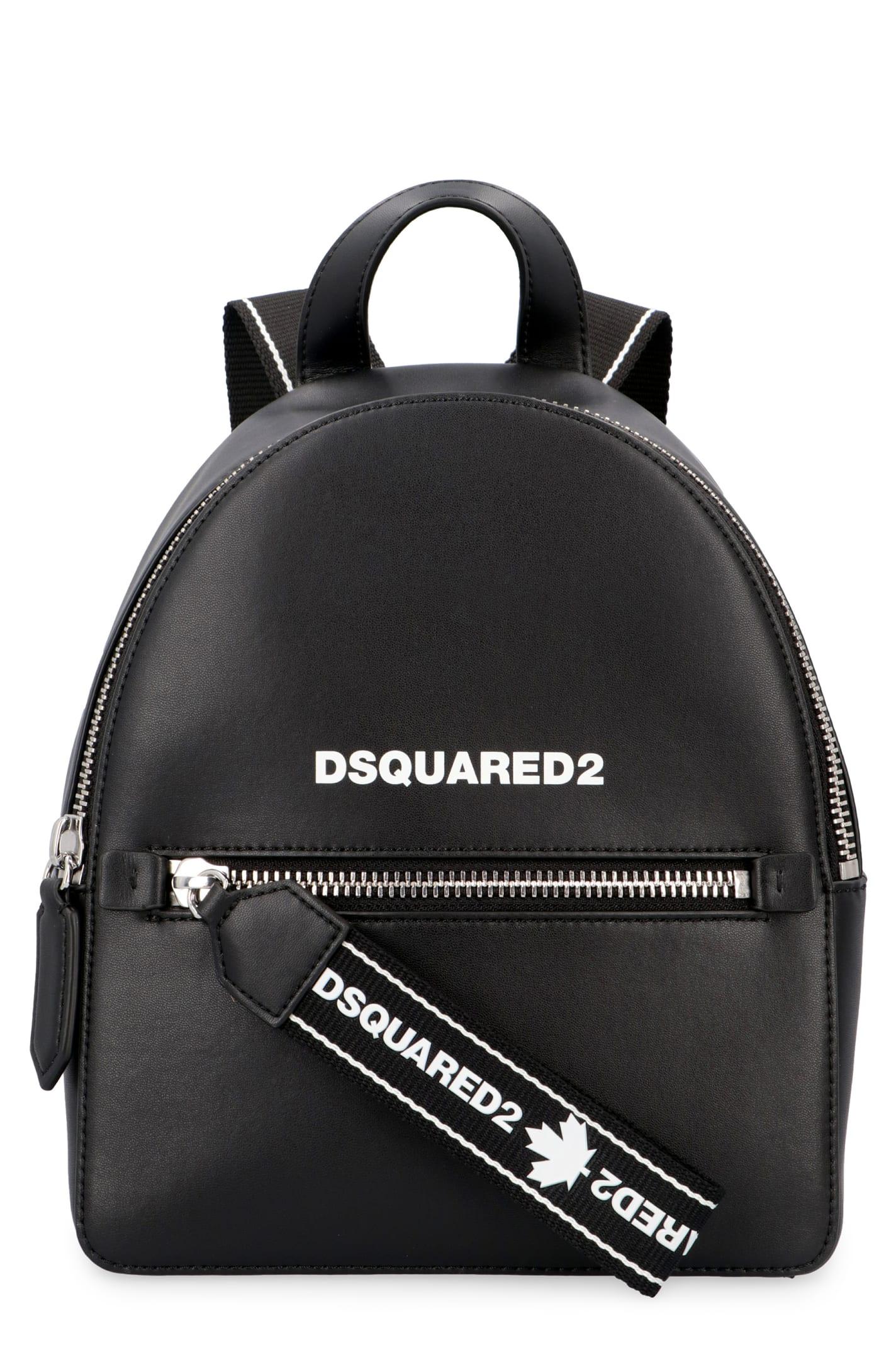 Zip closureFront zip pocketInternal zippered pocketAdjustable shoulder strapsSilver-tone metal hardwareEco-suede liningWidth: 21 cmHeight: 26 cmDepth: 13 cm100% Calf