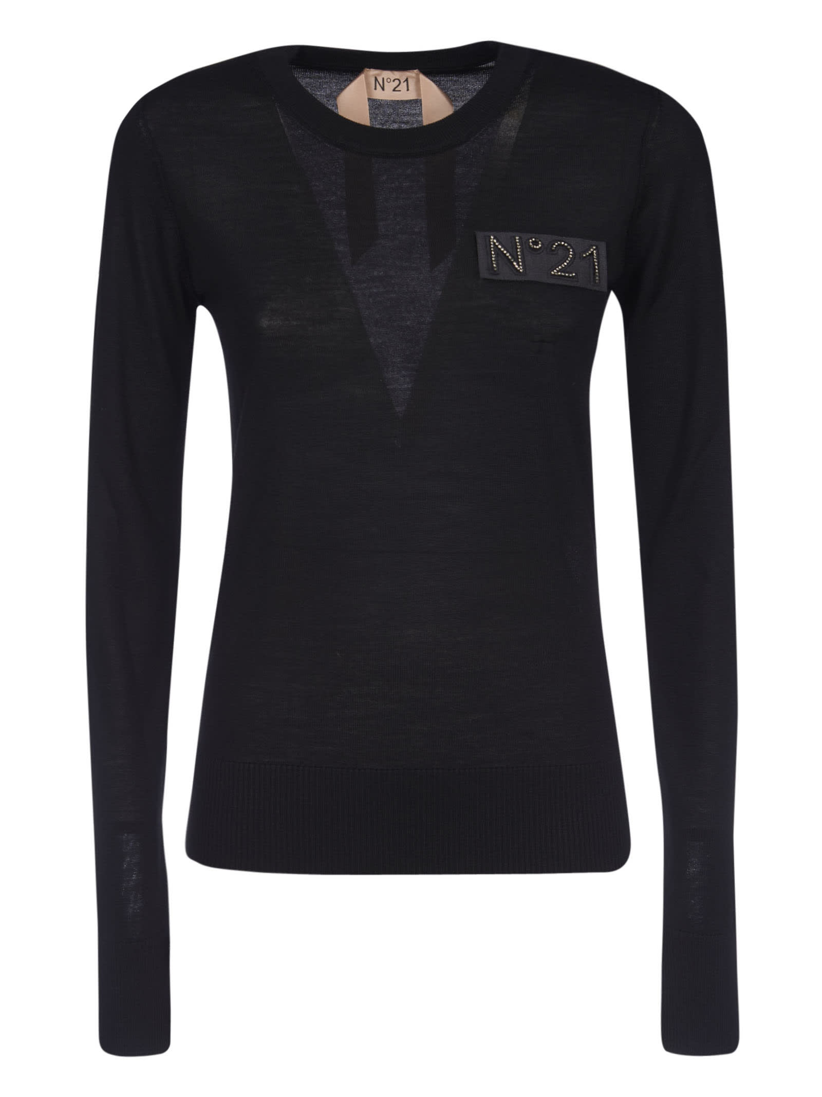 N.21 Logo Patched Top