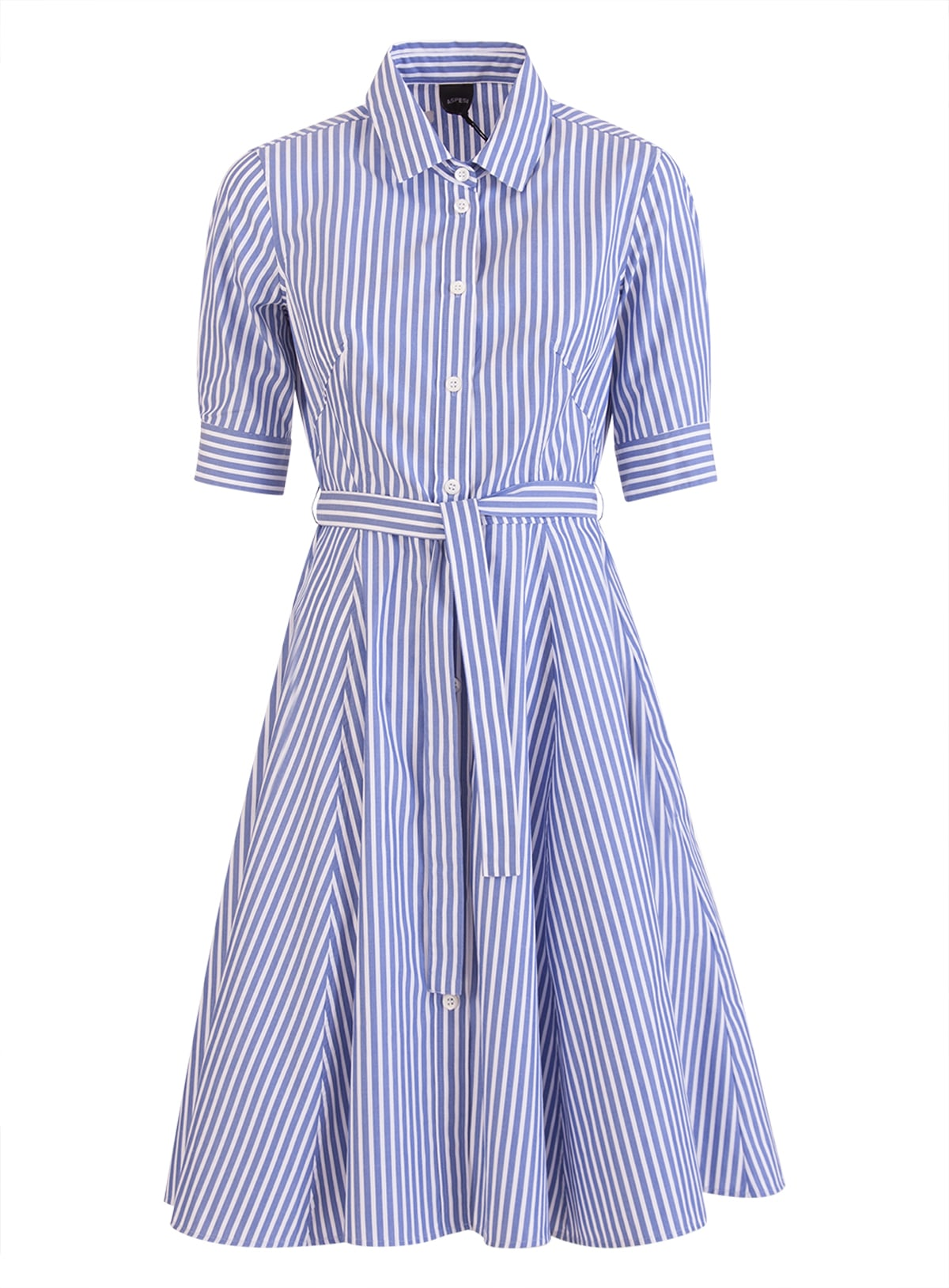 Buy Aspesi Striped Shirt Dress online, shop Aspesi with free shipping