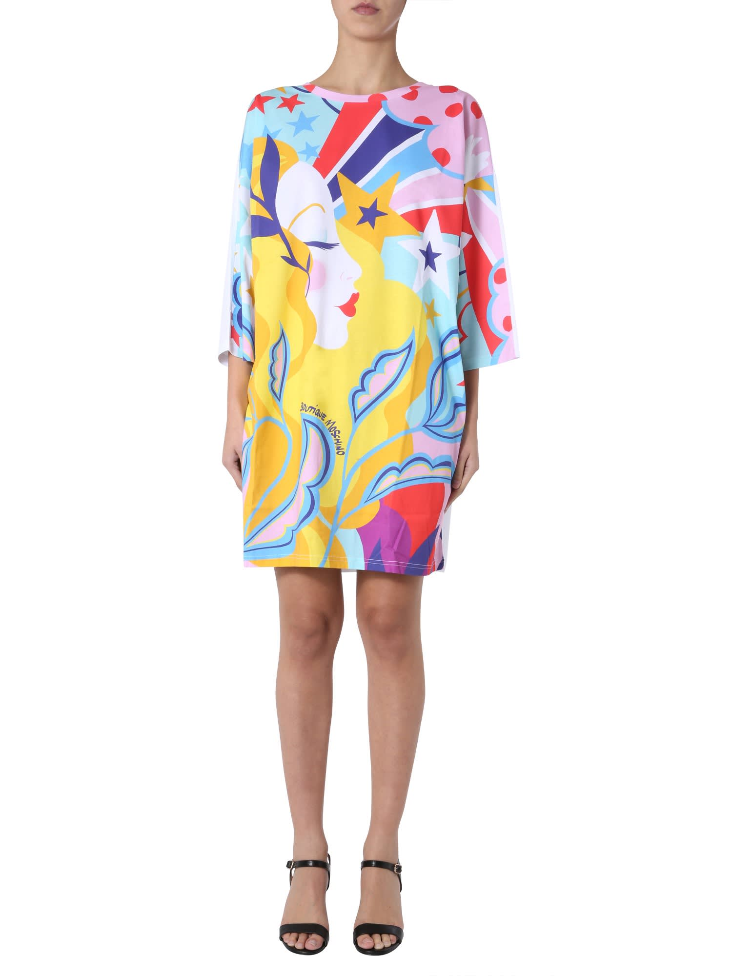 Buy Boutique Moschino Oversize Fit Dress online, shop Boutique Moschino with free shipping