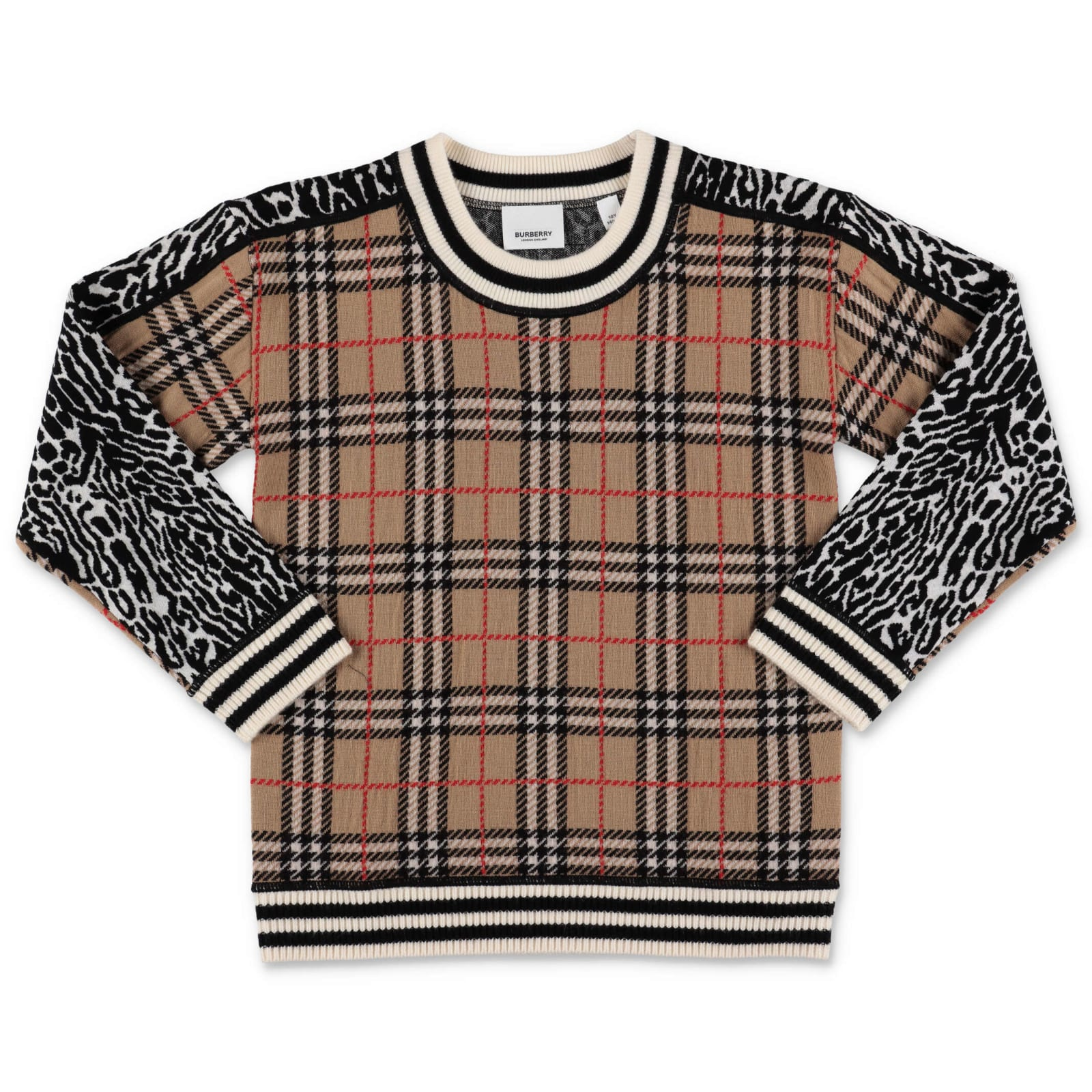 Burberry Kids' Sweater In Check