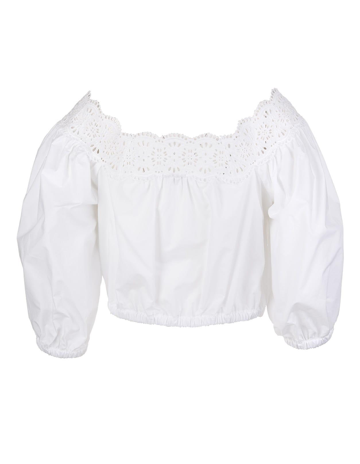 P.a.r.o.s.h. Cottons LACE-TRIM BLOUSE