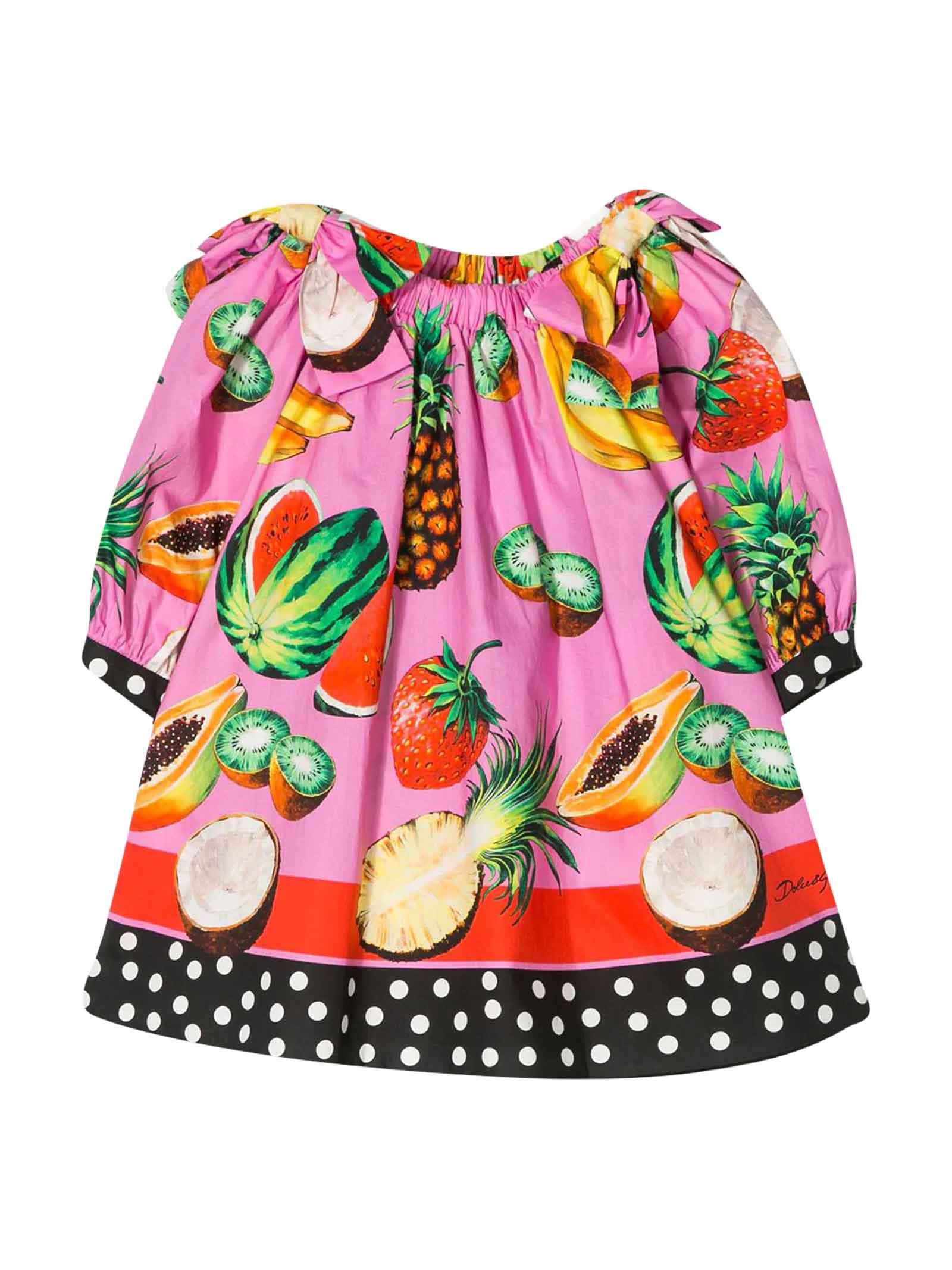 Buy Dolce & Gabbana Fuchsia Dress online, shop Dolce & Gabbana with free shipping