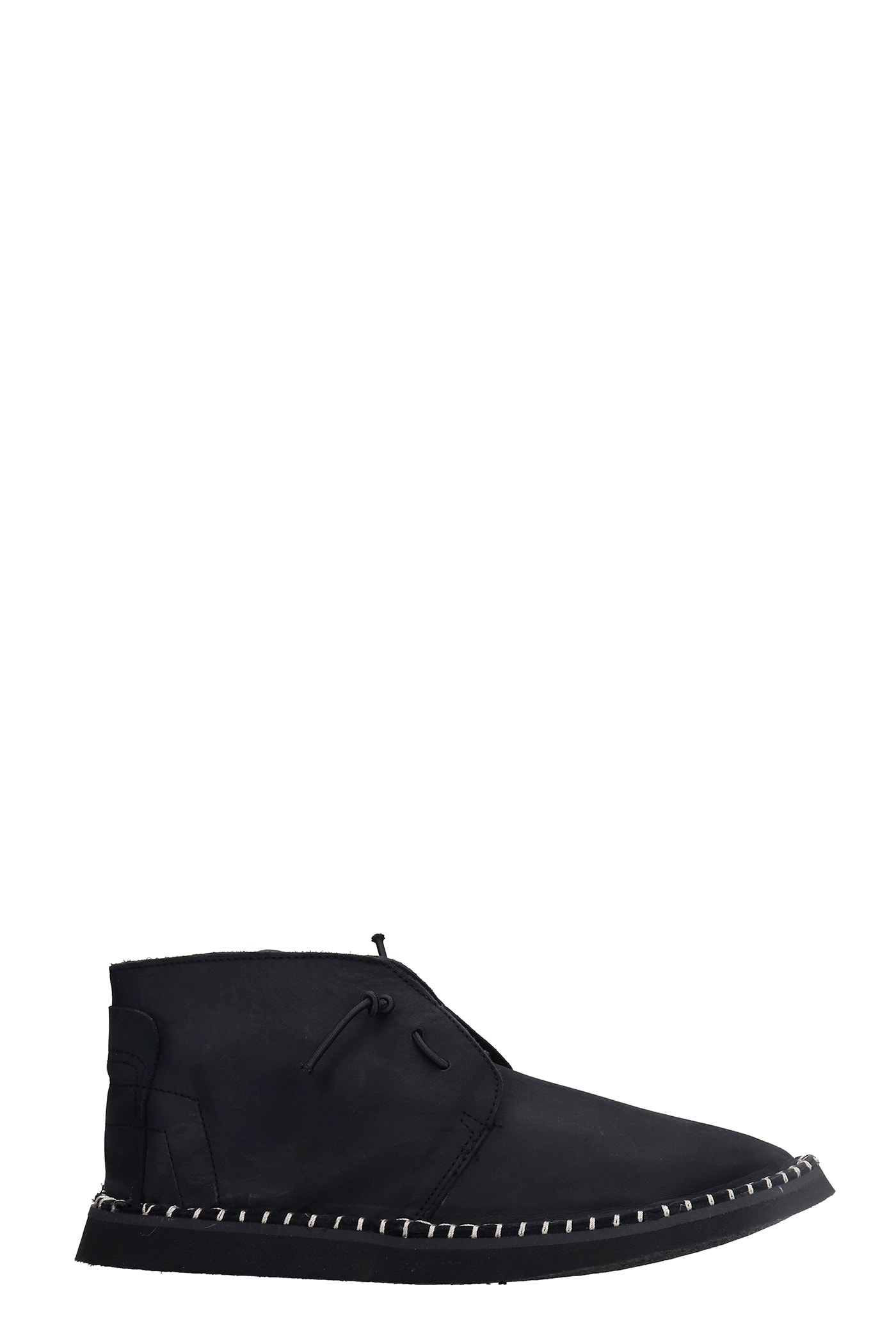 Flavor Lace Up Shoes In Black Nubuck
