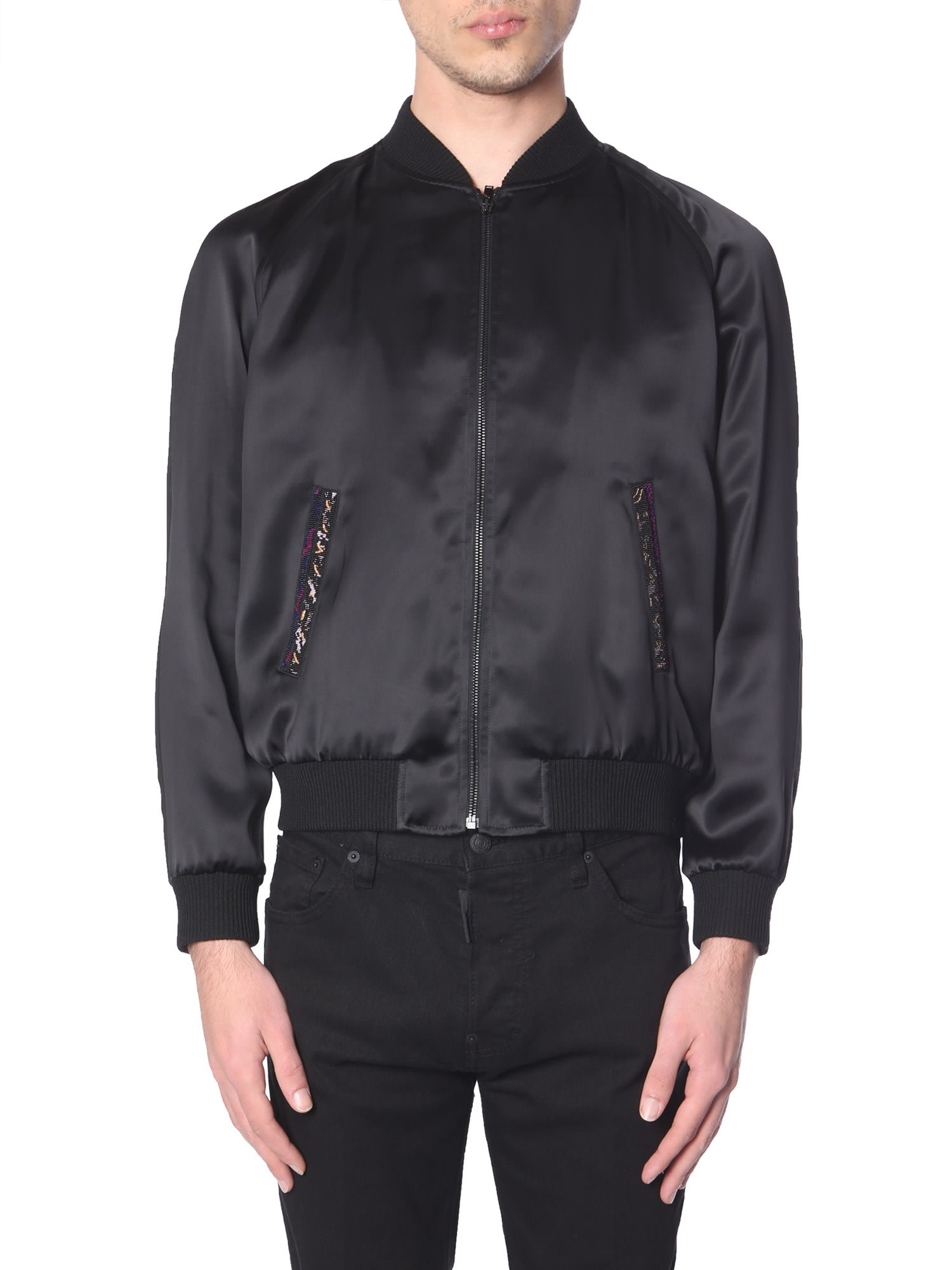 Saint Laurent Varsity Satin Jacket