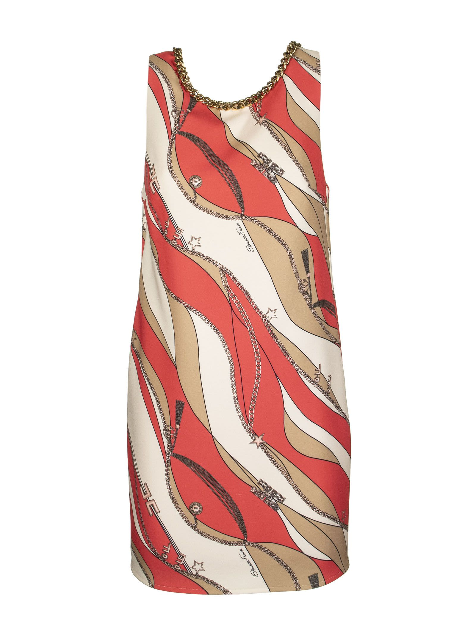 Buy Elisabetta Franchi Celyn B. Boxy Dress With Foulard Print online, shop Elisabetta Franchi Celyn B. with free shipping