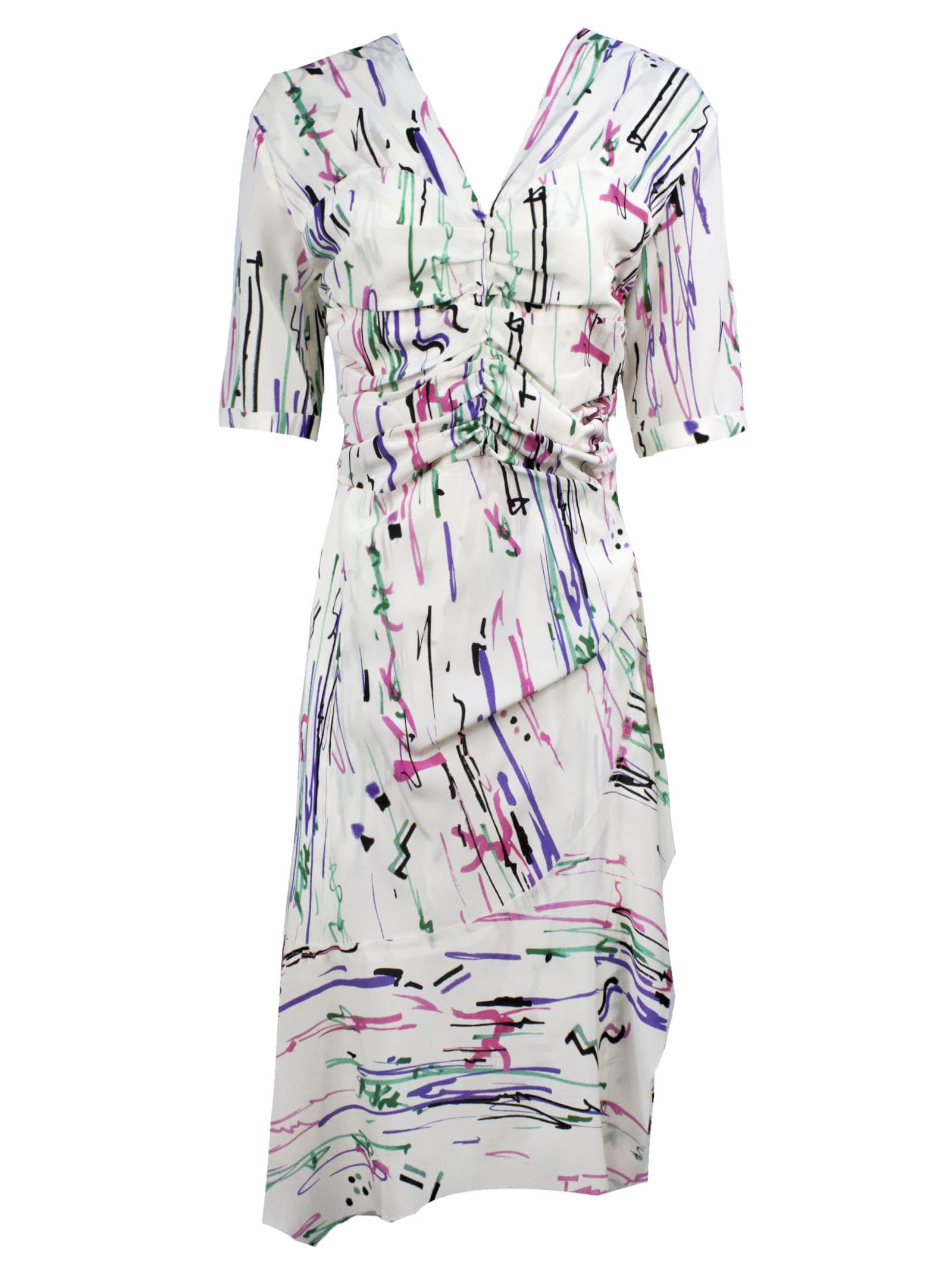 Buy Isabel Marant Arodie Ruffled Dress online, shop Isabel Marant with free shipping