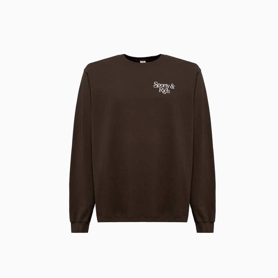 Sporty And Rich Bardot T-shirt Lo261ch In Chocolate