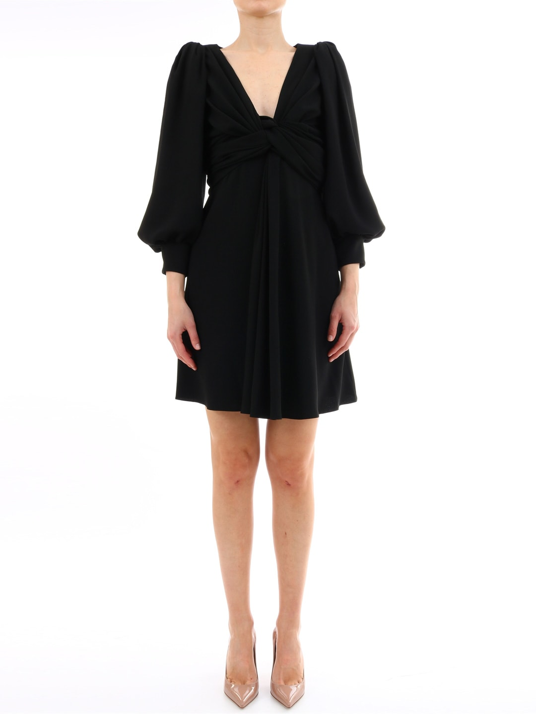 Celine Wrap Dress Black