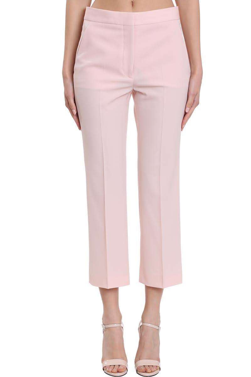 Stella McCartney Carlie Pants In Rose-pink Wool