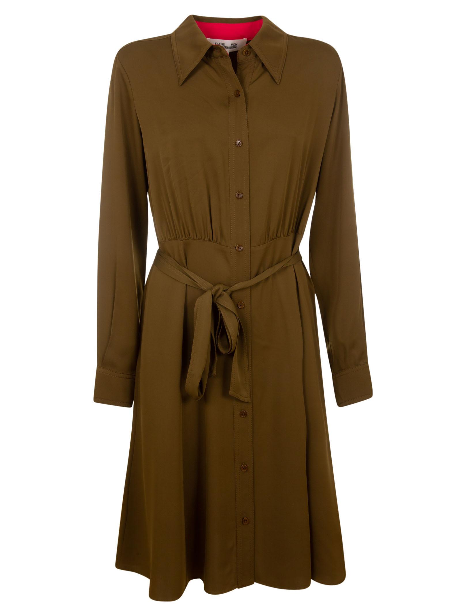 Buy Diane Von Furstenberg Dory Shirt Dress online, shop Diane Von Furstenberg with free shipping