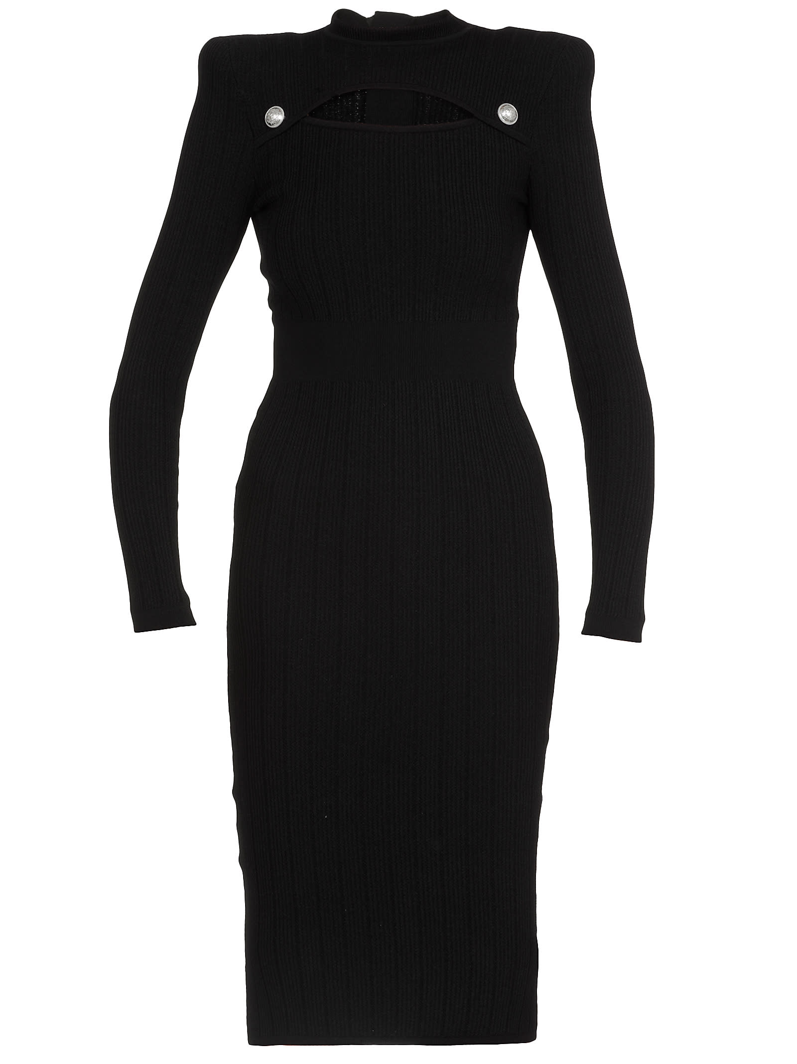 Buy Balmain Ribbed Dress online, shop Balmain with free shipping