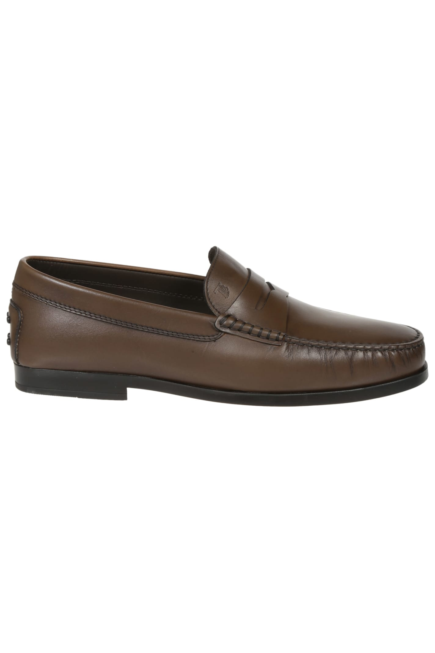 Tods Logo Stamp Loafers